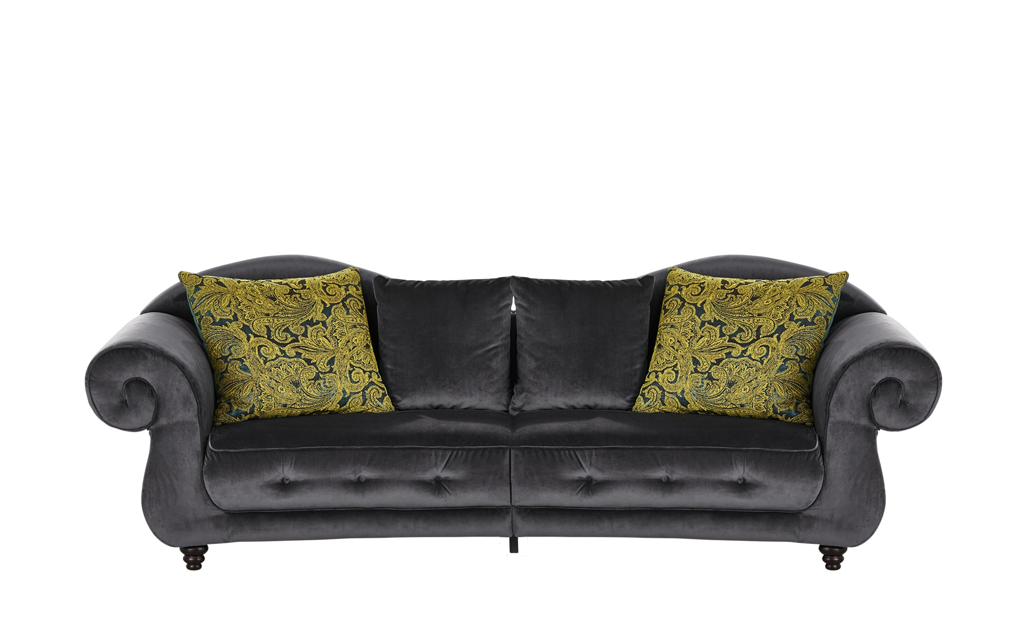 Design Big Sofa anthrazit - Mikrofaser Nobody ¦ grau ¦ Maße (cm): B: 288 H: 98 T: 110 Polstermöbel > Sofas > Big-Sofas - Höffner