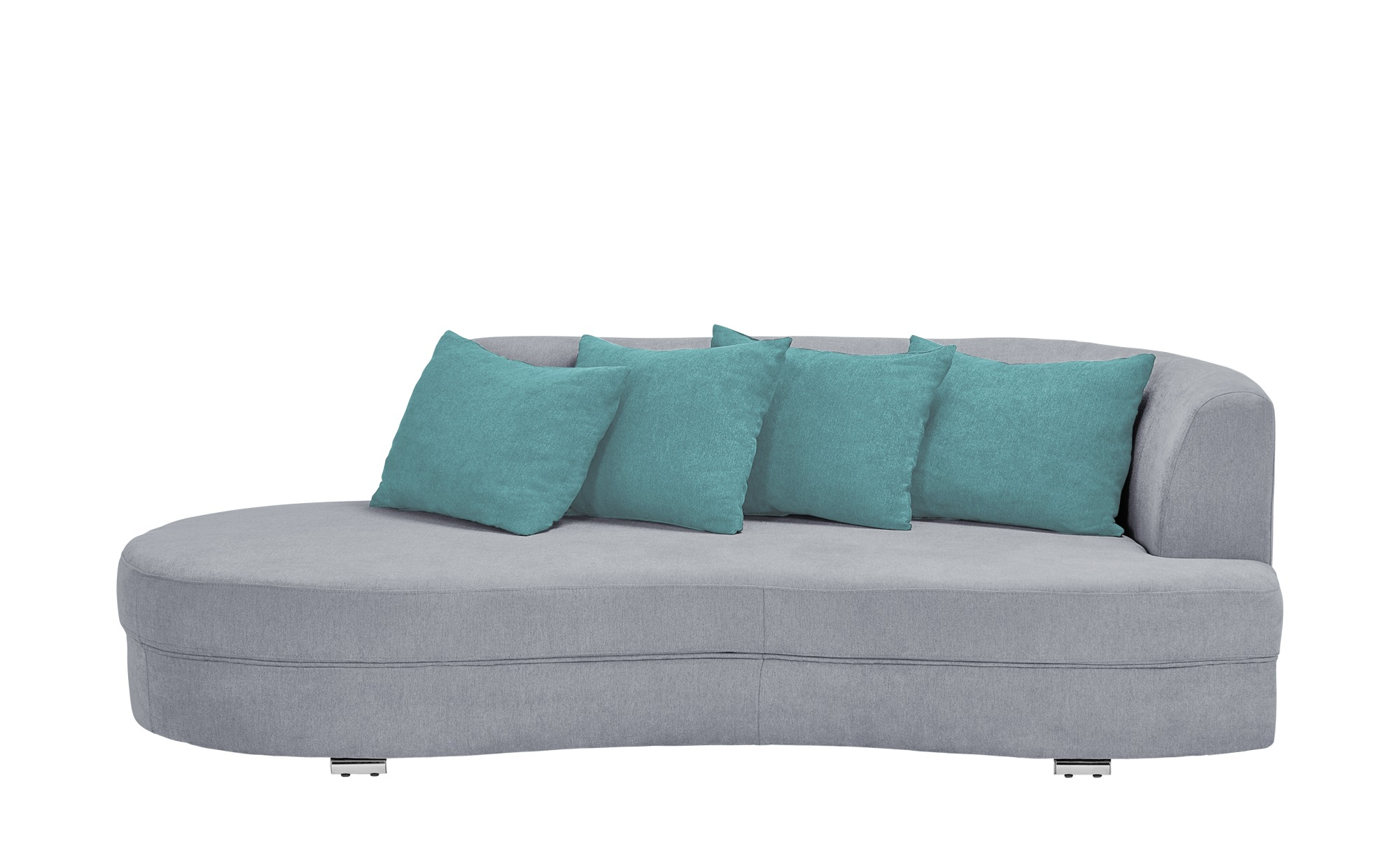 smart Big Sofa silber - Flachgewebe Marina ¦ silber ¦ Maße (cm): B: 211 H: 69 T: 109 Polstermöbel > Sofas > Big-Sofas - Höffner