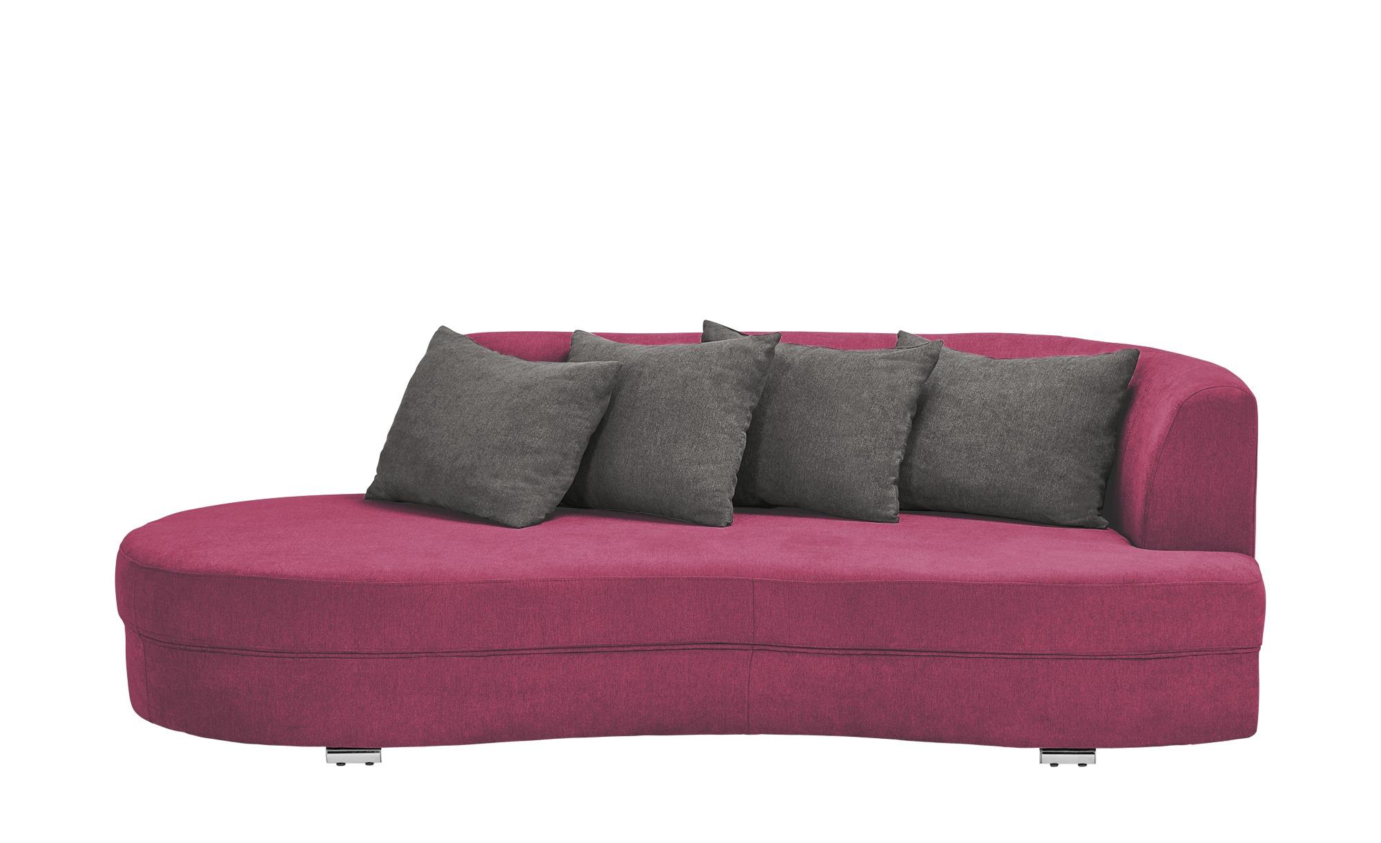 smart Big Sofa rot - Flachgewebe Marina ¦ rot ¦ Maße (cm): B: 211 H: 69 T: 109 Polstermöbel > Sofas > Big-Sofas - Höffner