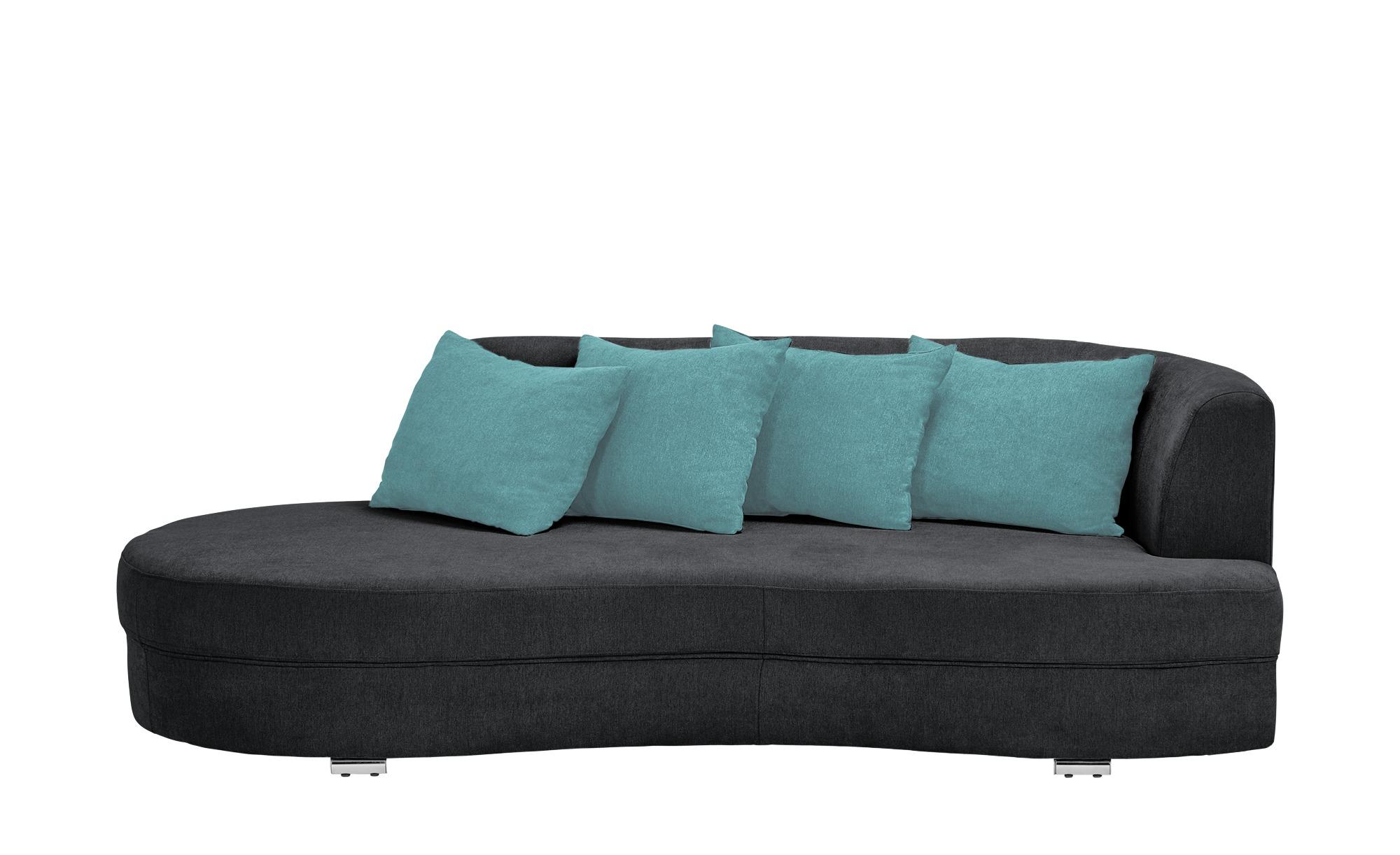 smart Big Sofa schwarz - Flachgewebe Marina ¦ schwarz ¦ Maße (cm): B: 211 H: 69 T: 109 Polstermöbel > Sofas > Big-Sofas - Höffner