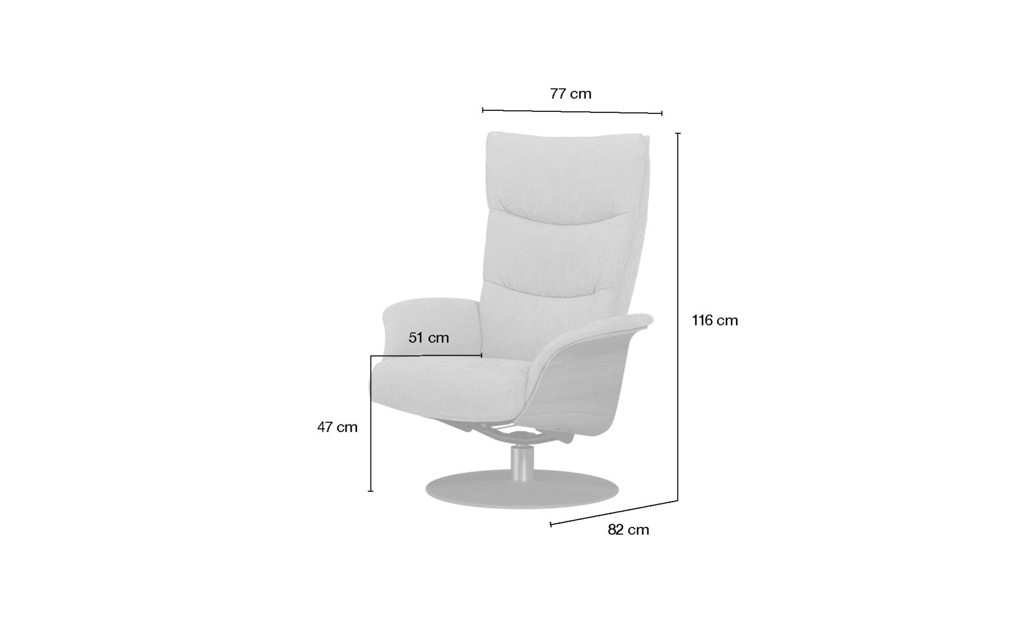 Relaxsessel  Stian ¦ grün ¦ Maße (cm): B: 77 H: 116 T: 82 Polstermöbel > Sessel > Fernsehsessel - Höffner