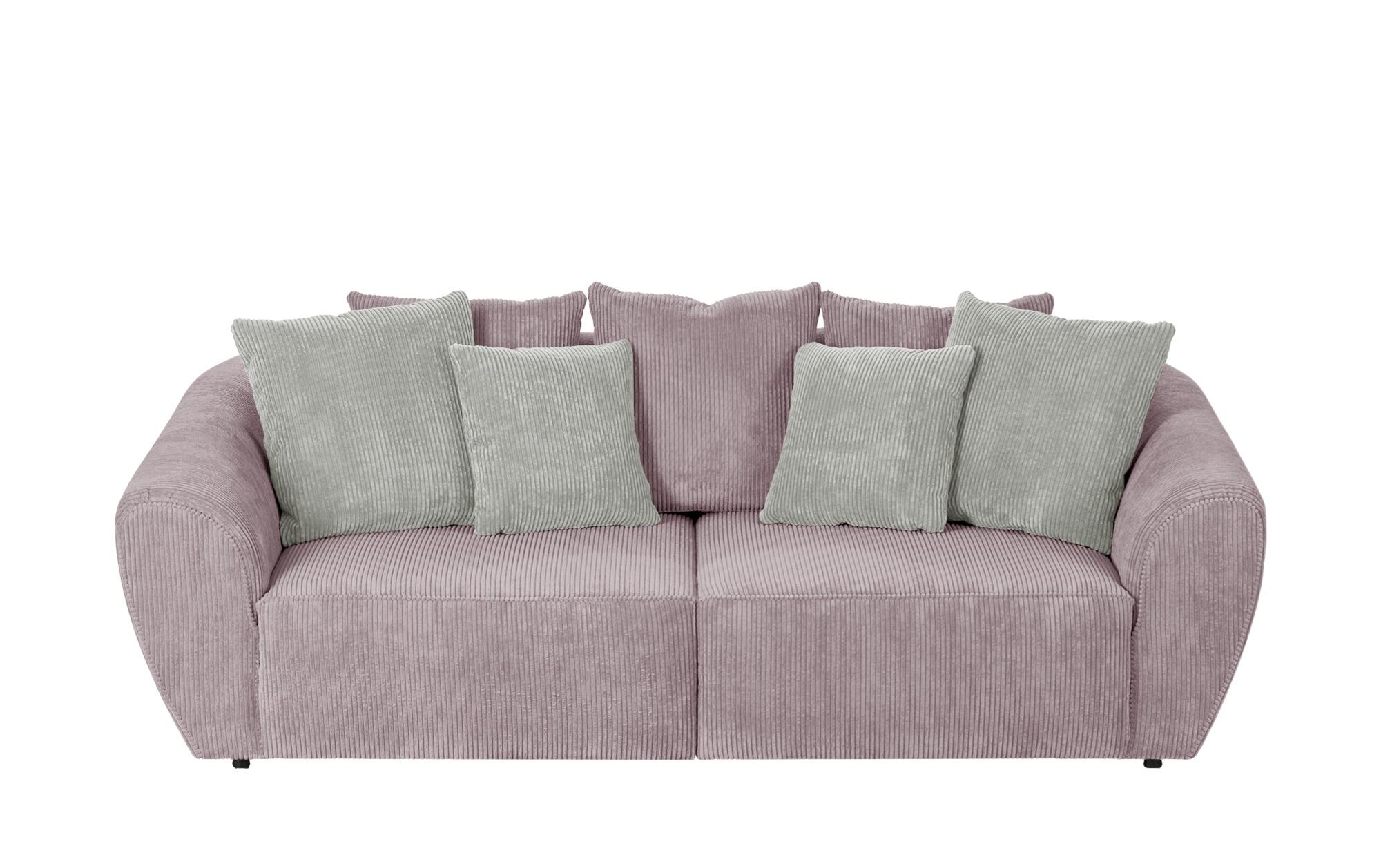 smart Big Sofa altrosa - Cordstoff Savita ¦ rosa/pink ¦ Maße (cm): B: 254 H: 80 T: 113 Polstermöbel > Sofas > 3-Sitzer - Höffner