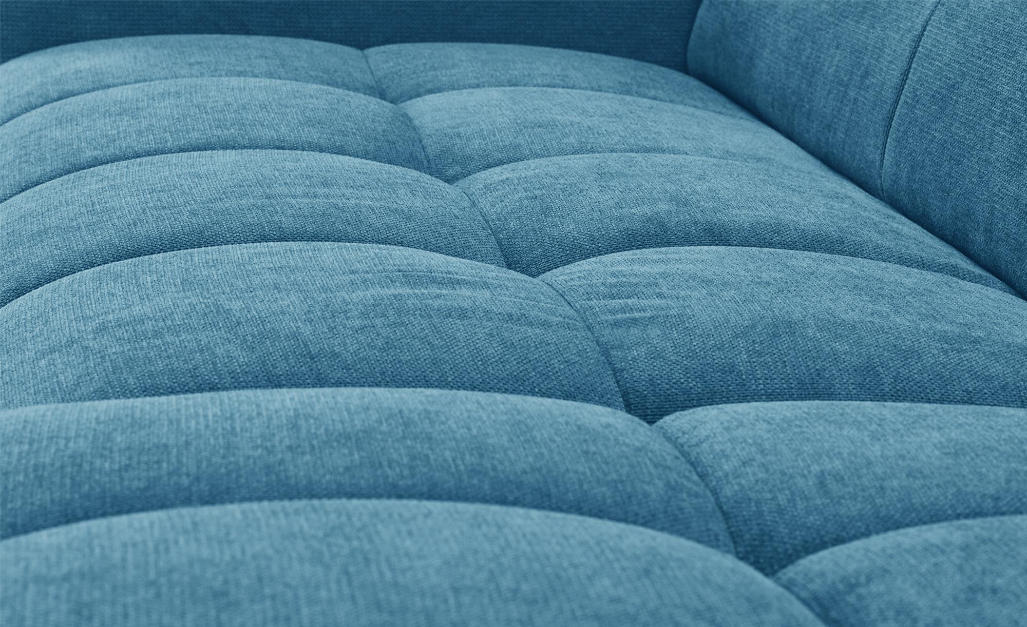 uno Ecksofa blau - Mikrofaser Origo ¦ blau ¦ Maße (cm): H: 70 Polstermöbel > Sofas > Ecksofas - Höffner