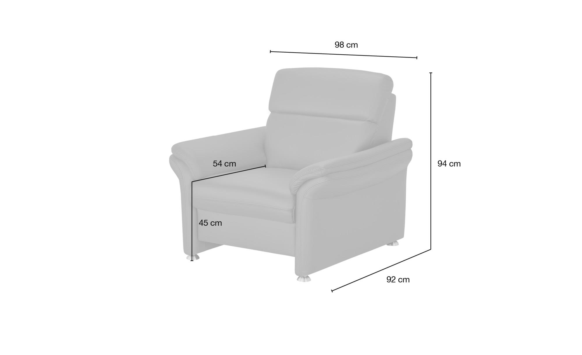 meinSofa Ledersessel schwarz - Leder Manon ¦ schwarz ¦ Maße (cm): B: 98 H: 94 T: 92 Polstermöbel > Sessel > Ledersessel - Höffner