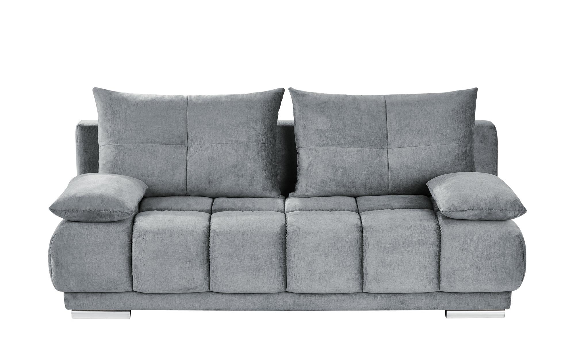 bobb Schlafsofa grau - Flachgewebe Isalie de Luxe ¦ grau ¦ Maße (cm): B: 206 H: 92 T: 105 Polstermöbel > Sofas > Einzelsofas - Höffner