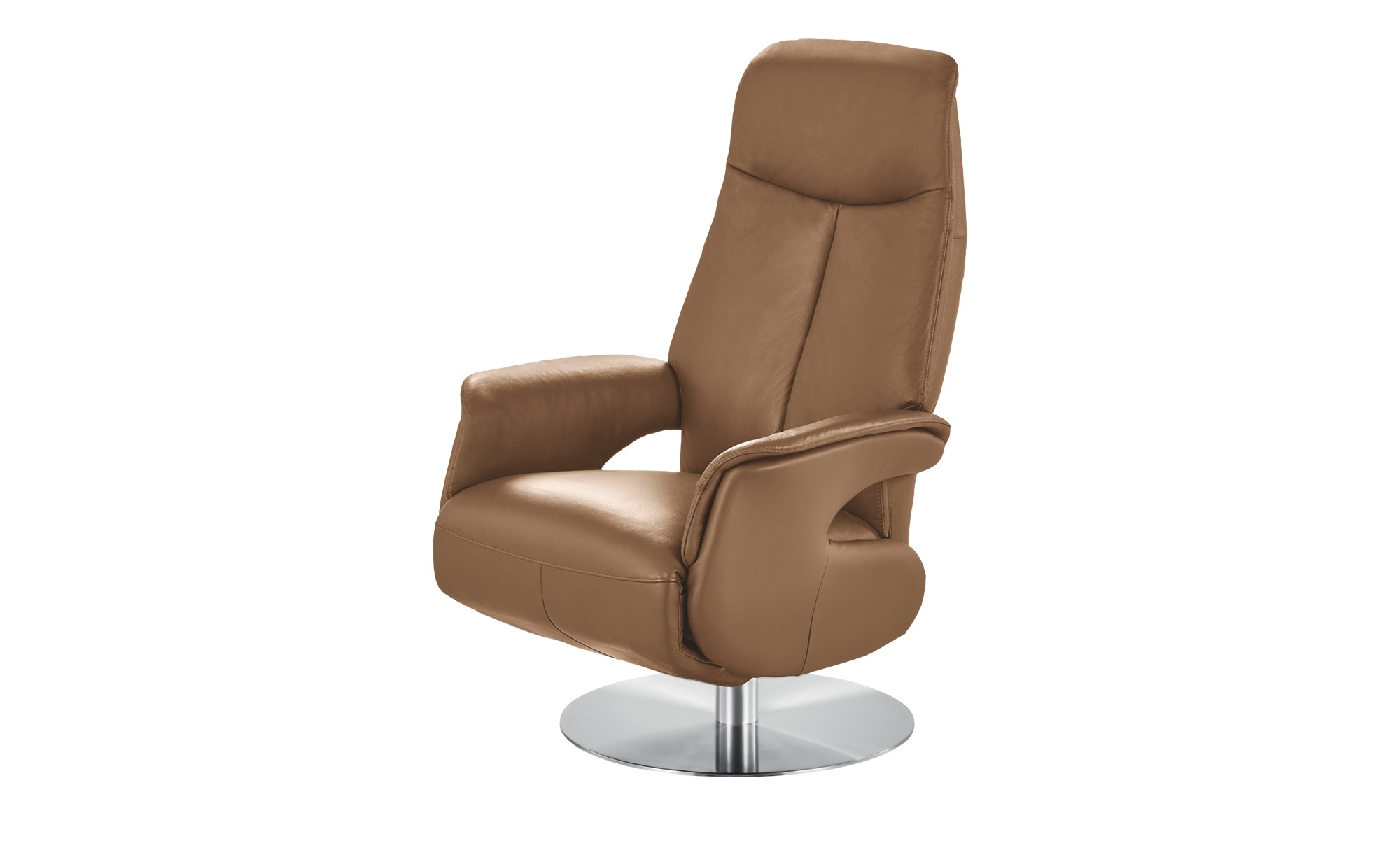 Relaxsessel braun - Leder Nils ¦ braun ¦ Maße (cm): B: 70 H: 111 T: 79 Polstermöbel > Sessel > Fernsehsessel - Höffner