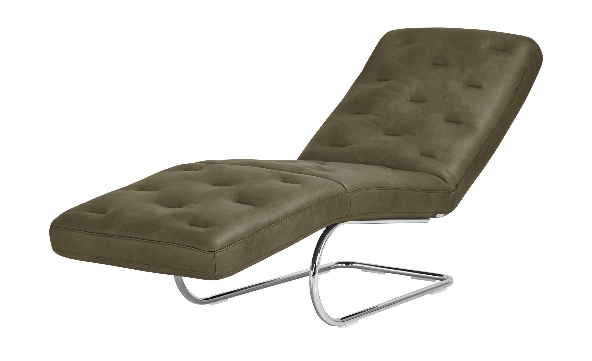 Relaxliege Leder  Sweet Dreams ¦ grün ¦ Maße (cm): B: 65 H: 91 T: 200 Polstermöbel > Relaxliegen - Höffner | Wohnzimmer > Sessel > Relaxliegen | Möbel Höffner DE