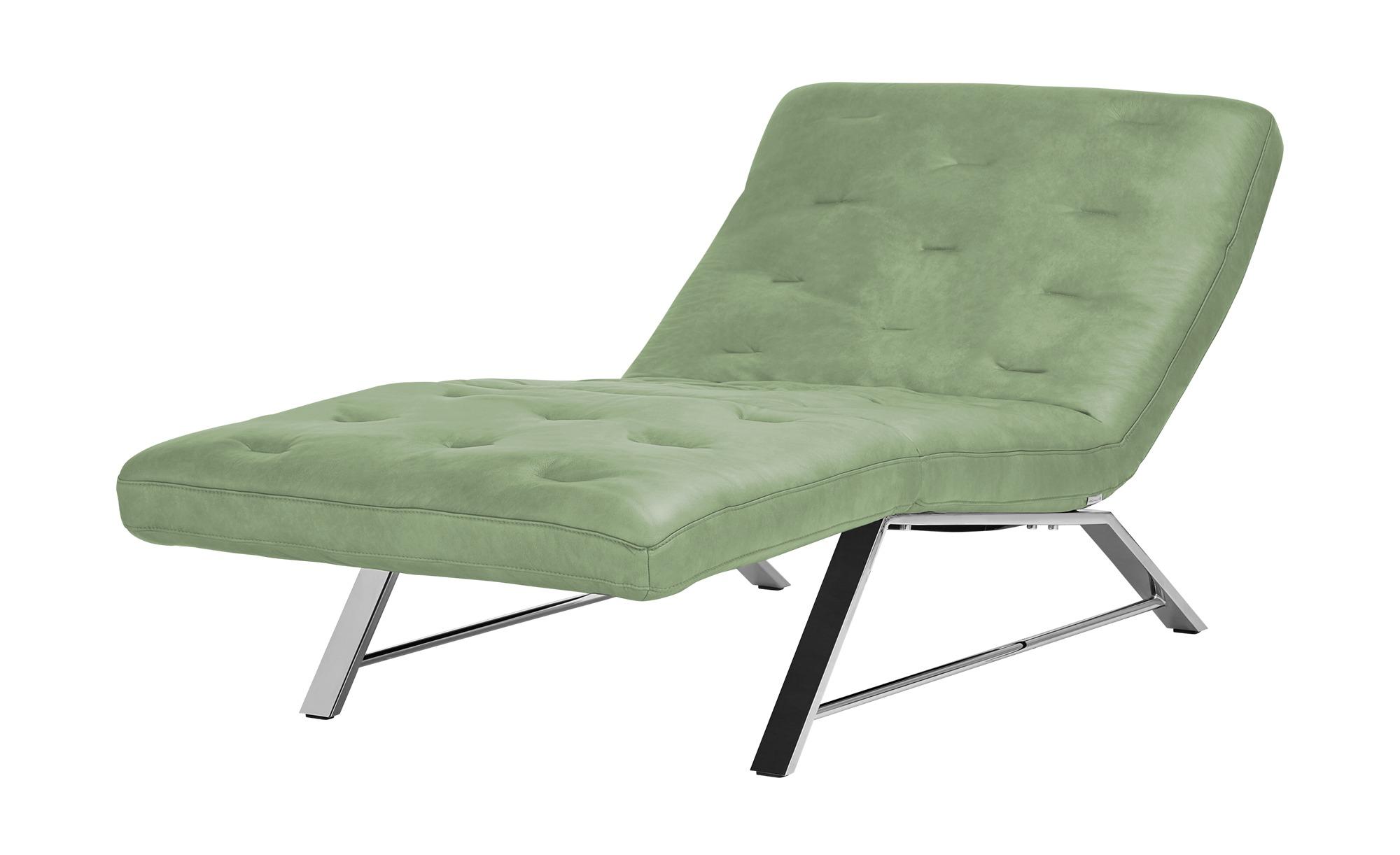 Relaxliege Leder  Sweet Dreams ¦ grün ¦ Maße (cm): B: 95 H: 95 T: 192 Polstermöbel > Relaxliegen - Höffner | Wohnzimmer > Sessel > Relaxliegen | Möbel Höffner DE