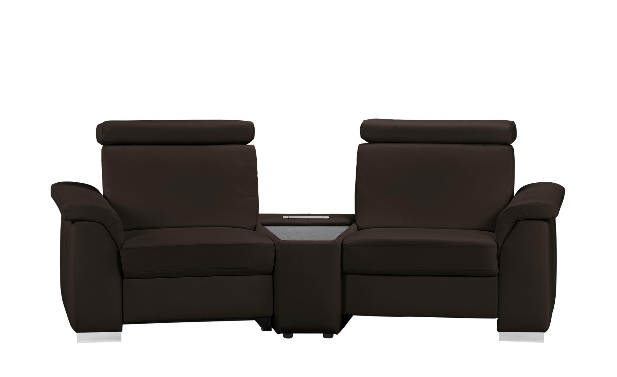 Polstermöbel Oelsa Cinema-Sofa braun - Leder München ¦ braun ¦ Maße (cm): B: 252 H: 91 T: 99 Polstermöbel > Sofas > 2-Sitzer - Höffner