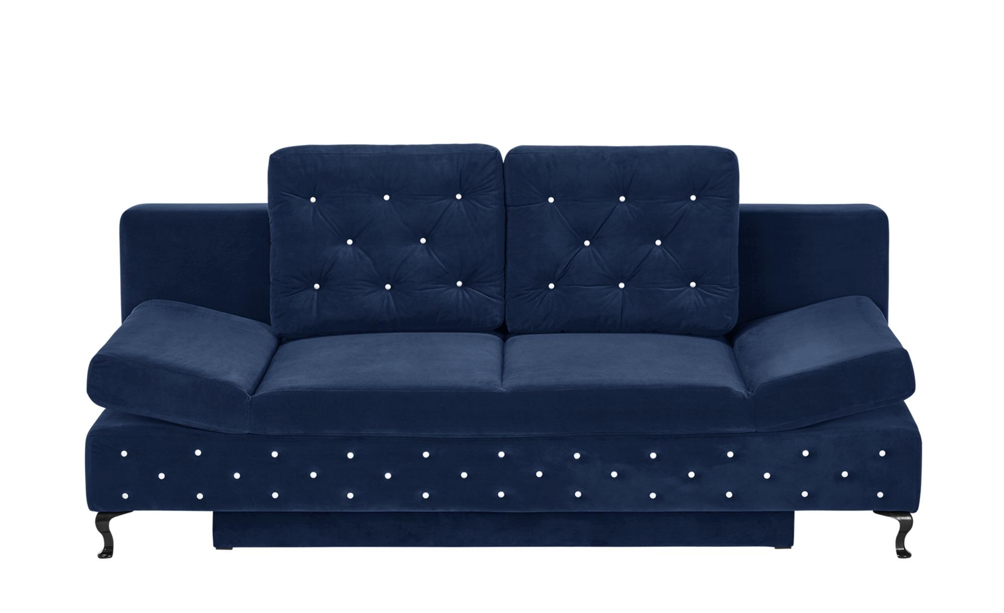 switch Schlafsofa blau - Mikrofaser Riviera ¦ blau ¦ Maße (cm): B: 202 H: 75 T: 94 Polstermöbel > Sofas > Einzelsofas - Höffner