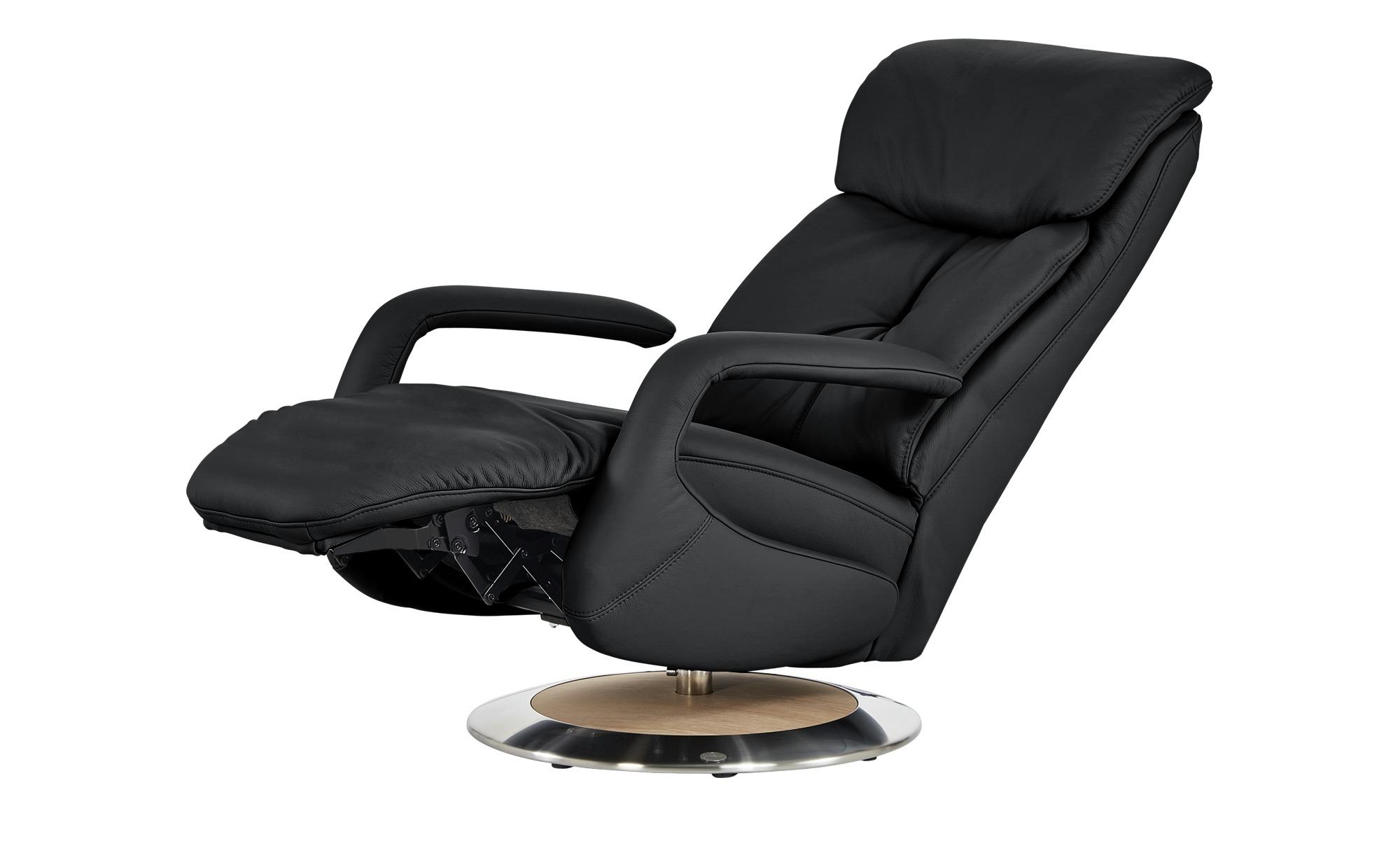 Relaxsessel schwarz - Leder Alea ¦ schwarz ¦ Maße (cm): B: 70 H: 111 T: 88 Polstermöbel > Sessel > Fernsehsessel - Höffner