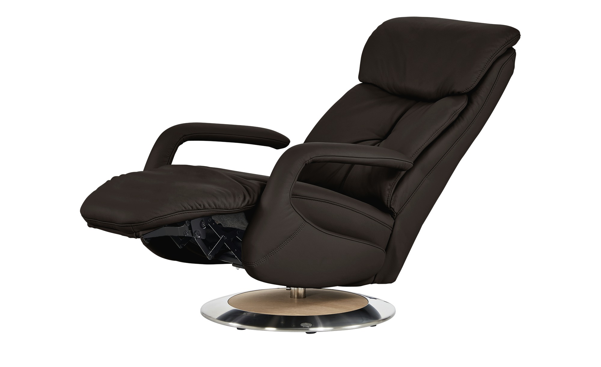 Relaxsessel braun - Leder Alea ¦ braun ¦ Maße (cm): B: 70 H: 111 T: 88 Polstermöbel > Sessel > Fernsehsessel - Höffner
