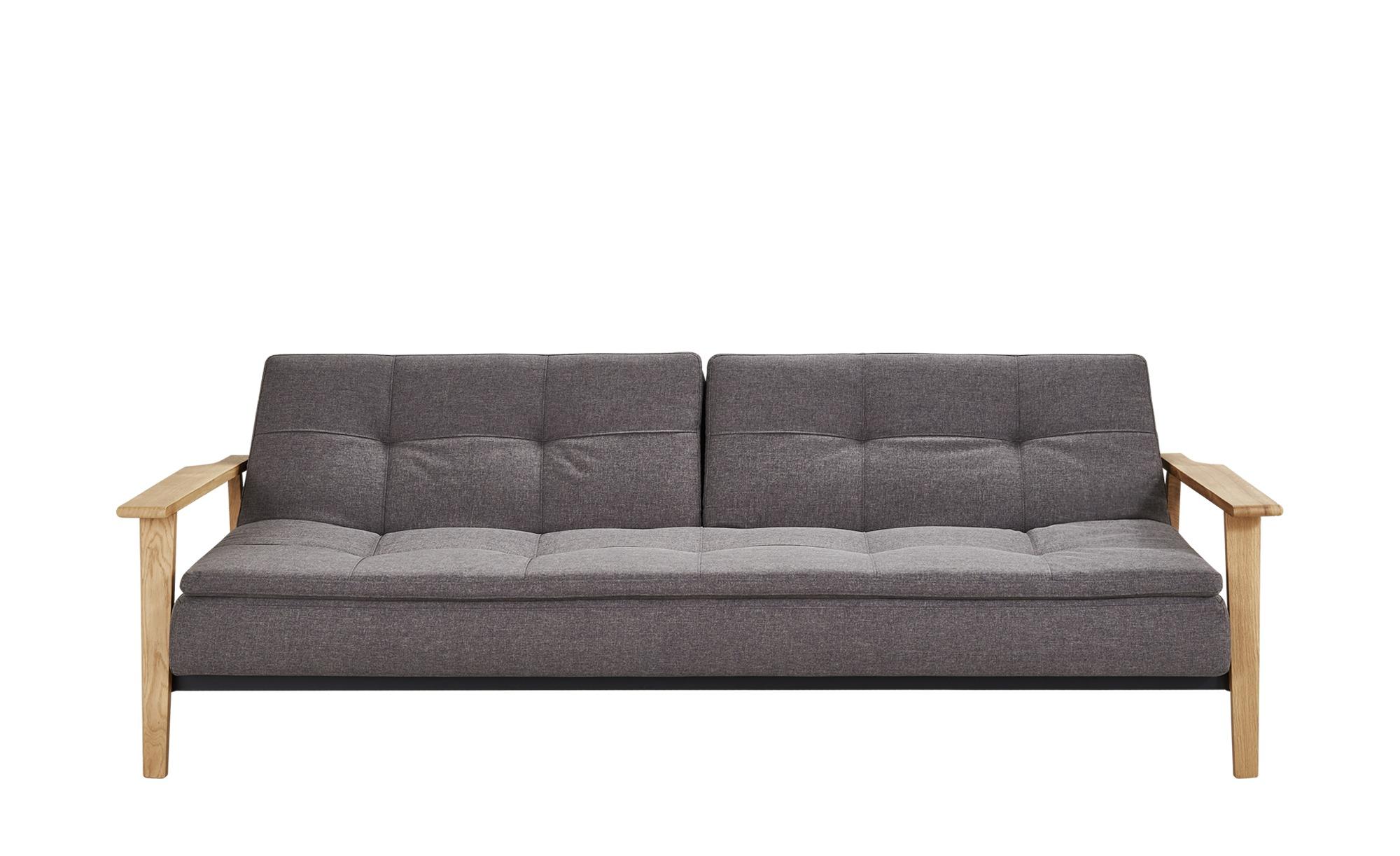 Design-Schlafsofa dunkelgrau - Webstoff Stratos ¦ grau ¦ Maße (cm): B: 232 H: 79 T: 115 Polstermöbel > Sofas > Einzelsofas - Höffner