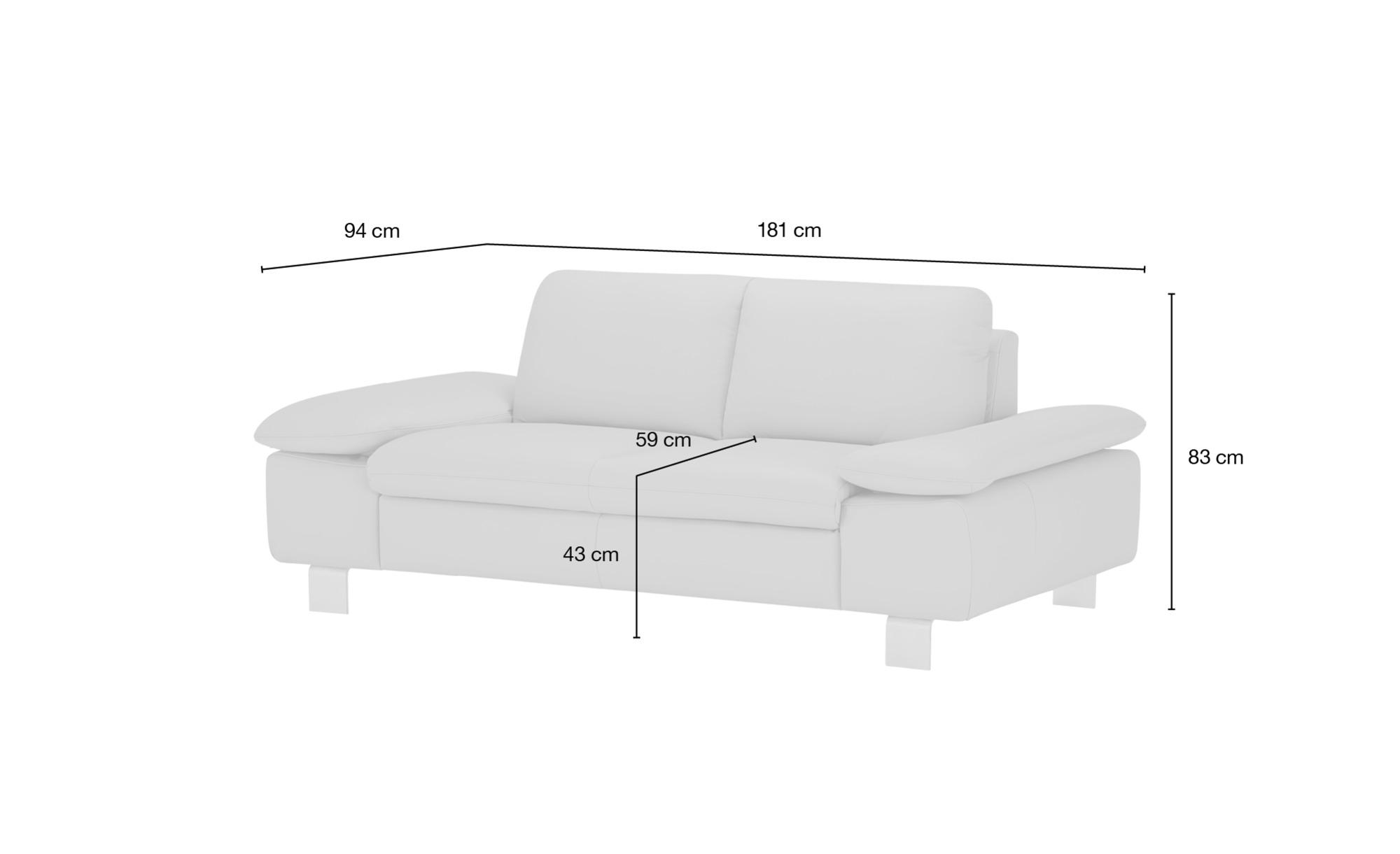 smart Sofa  Finola ¦ rot ¦ Maße (cm): B: 181 H: 83 T: 94 Polstermöbel > Sofas > 2-Sitzer - Höffner