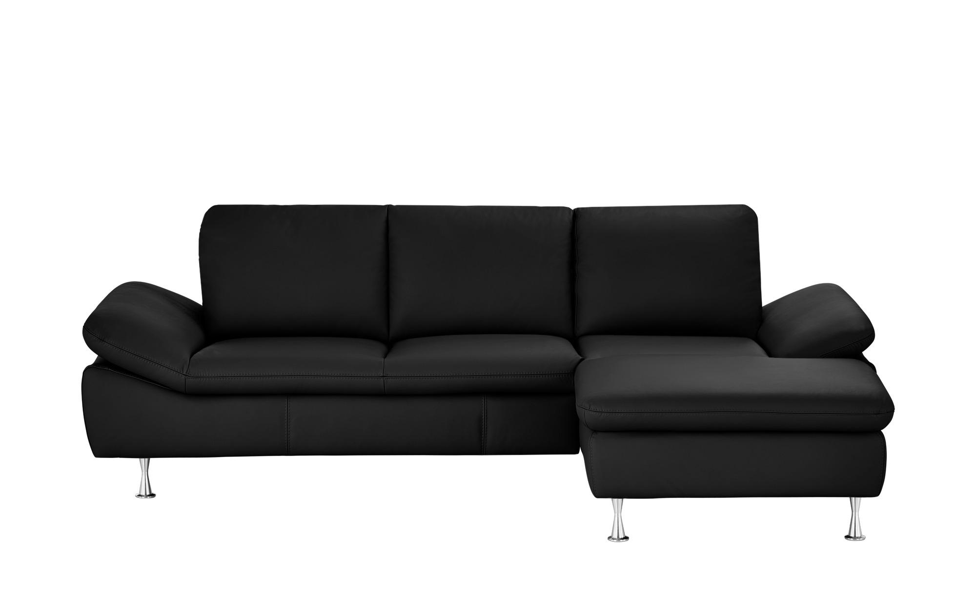 smart Ecksofa schwarz - Leder Okelani ¦ Maße (cm): H: 78 Polstermöbel > Sofas > Ecksofas - Höffner