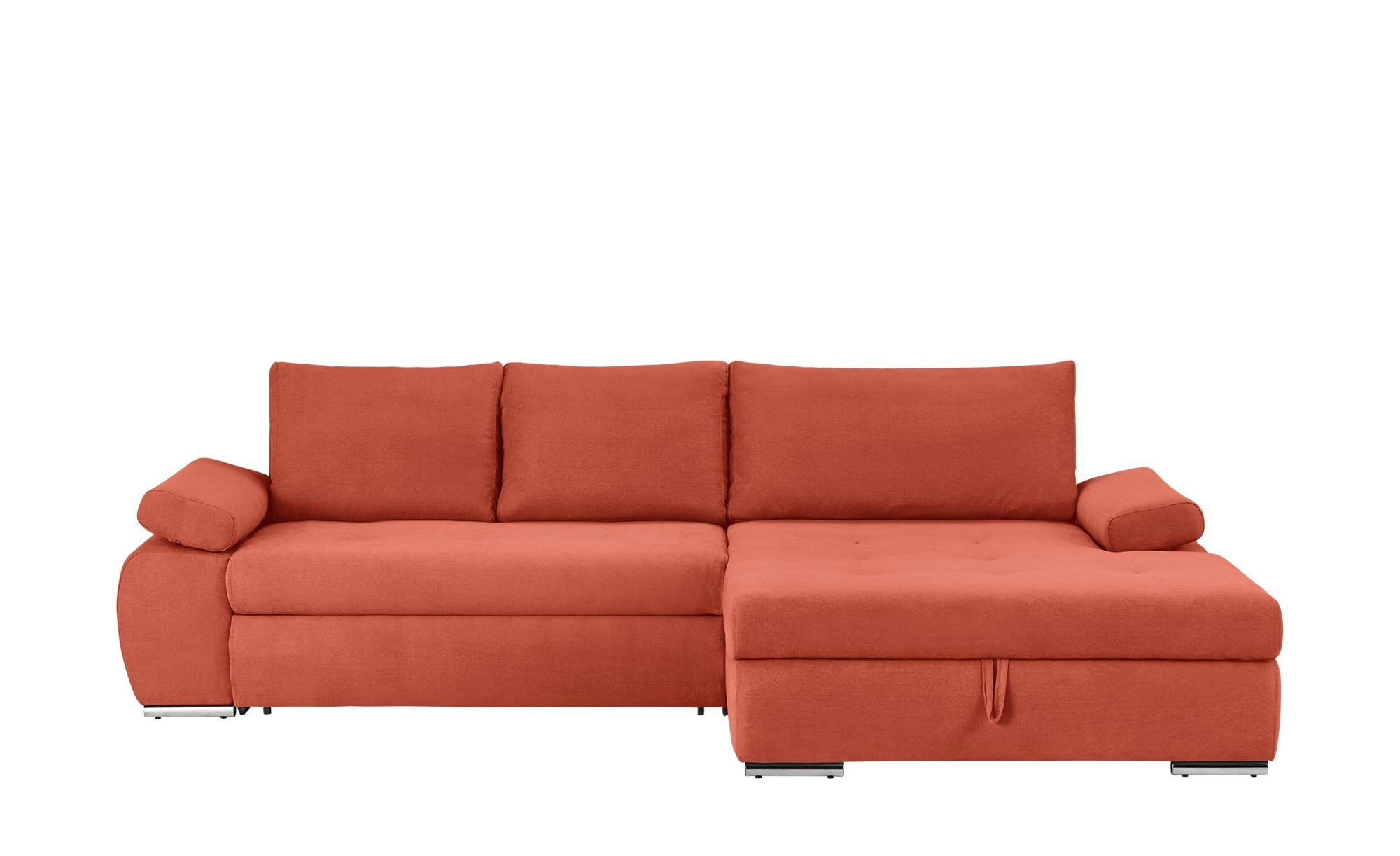 smart Ecksofa  Ibby ¦ orange ¦ Maße (cm): H: 73 Polstermöbel > Sofas > Ecksofas - Höffner
