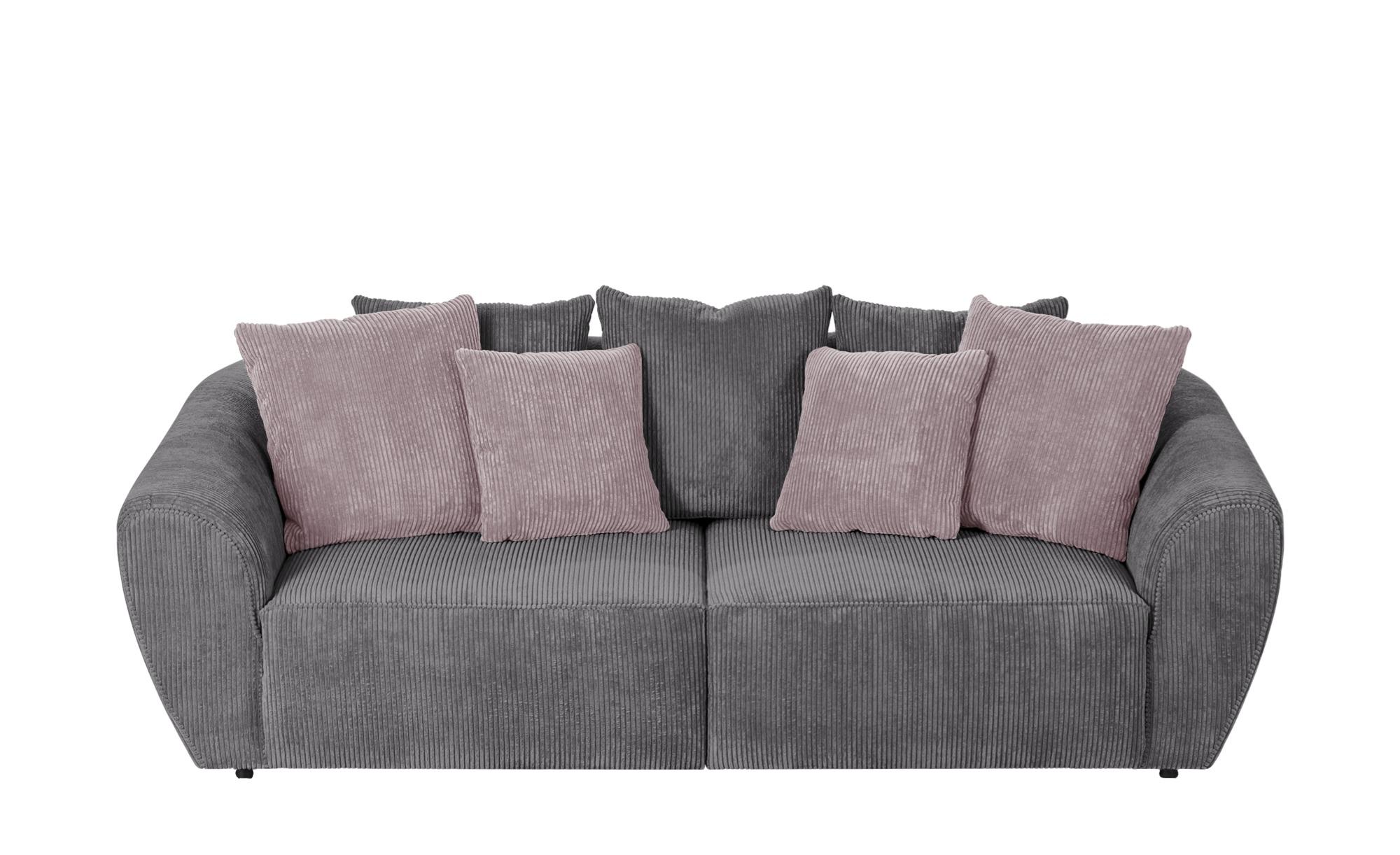 smart Big Sofa  Savita ¦ grau ¦ Maße (cm): B: 255 H: 90 T: 113 Polstermöbel > Sofas > 3-Sitzer - Höffner