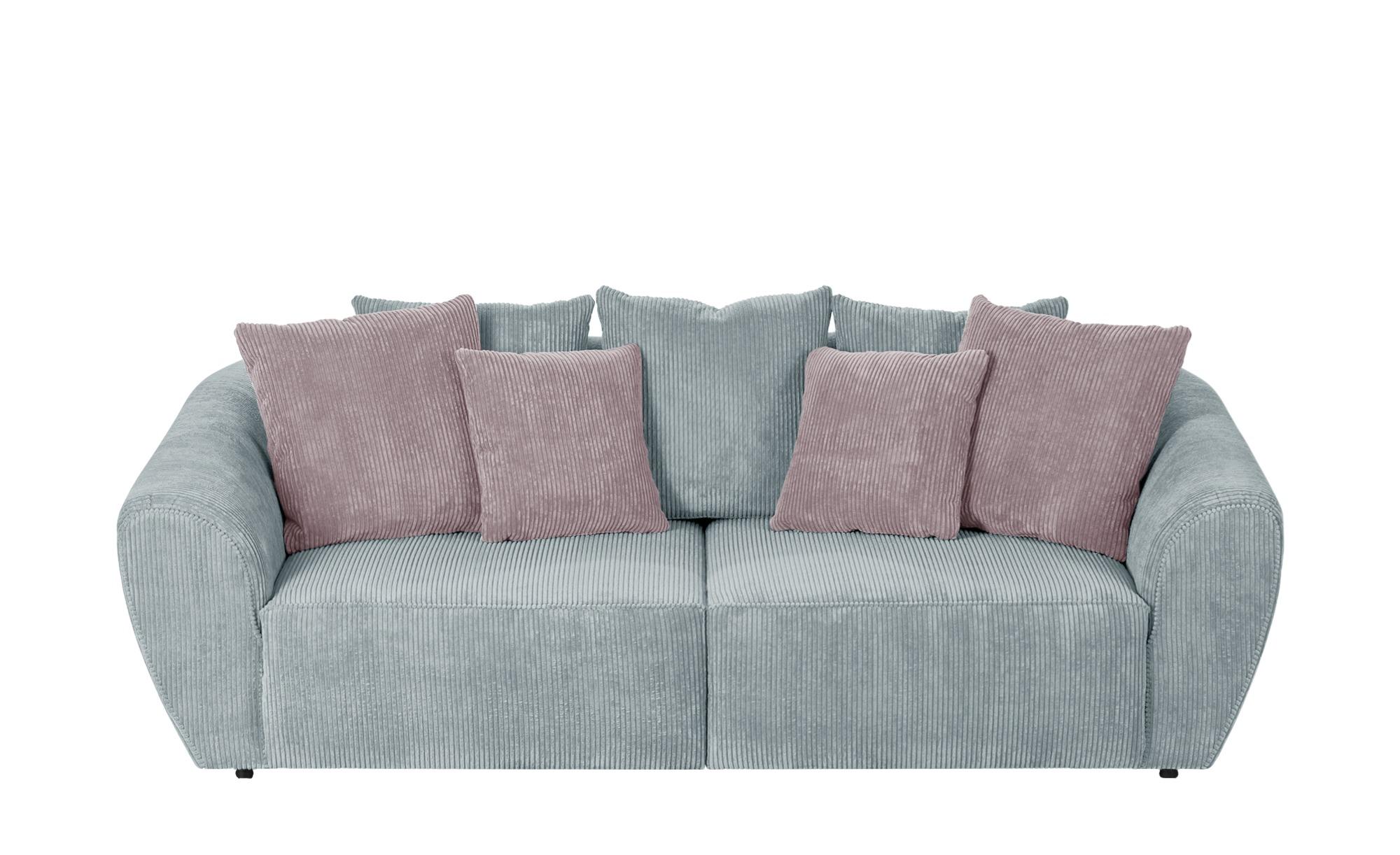 smart Big Sofa  Savita ¦ grün ¦ Maße (cm): B: 255 H: 90 T: 113 Polstermöbel > Sofas > 3-Sitzer - Höffner