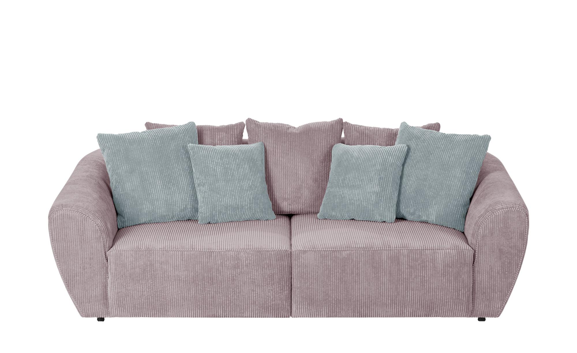 smart Big Sofa  Savita ¦ rosa/pink ¦ Maße (cm): B: 254 H: 80 T: 113 Polstermöbel > Sofas > 3-Sitzer - Höffner