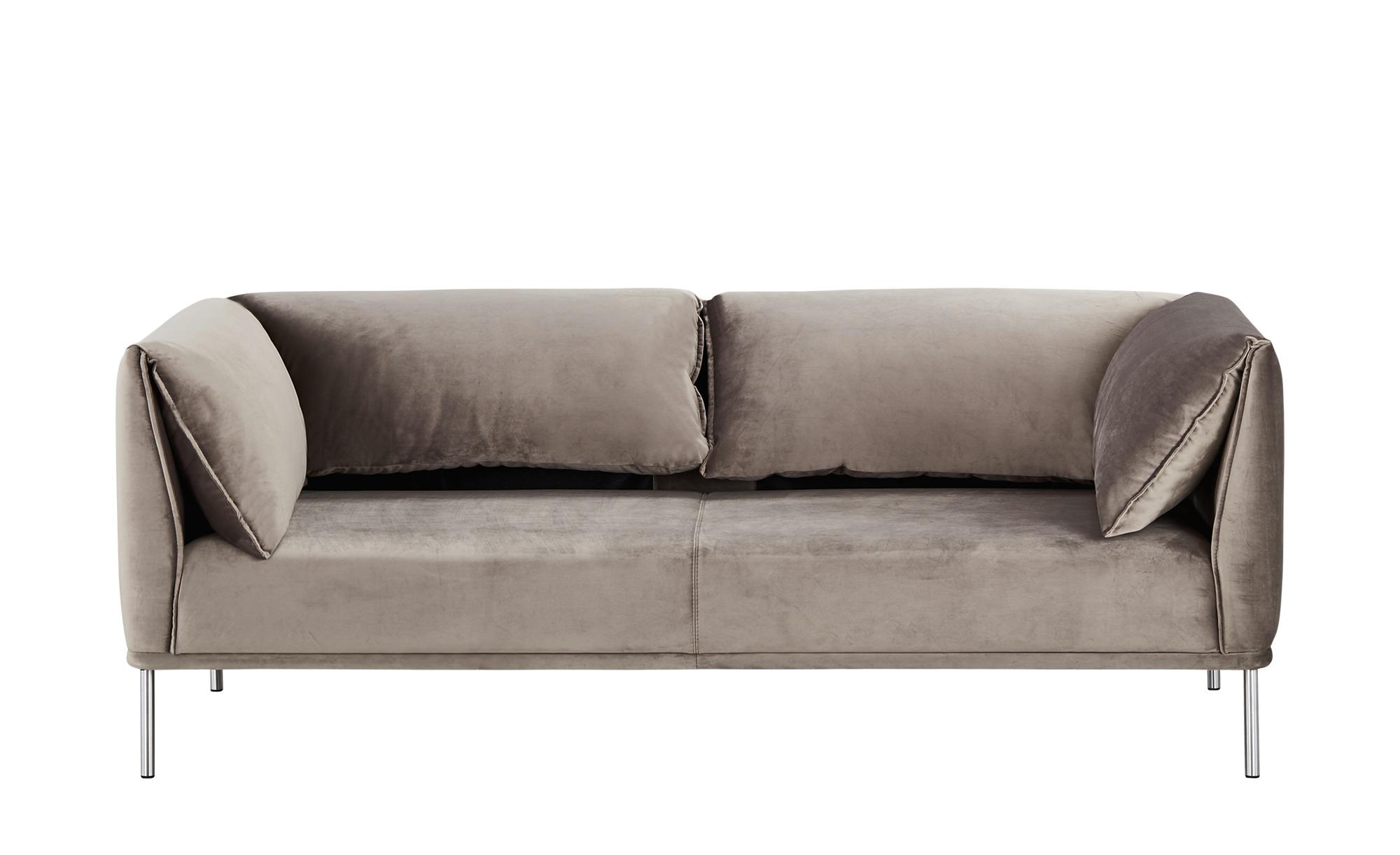 Sofa grau - Flachgewebe Melania ¦ grau ¦ Maße (cm): B: 206 H: 76 T: 89 Polstermöbel > Sofas > Einzelsofas - Höffner
