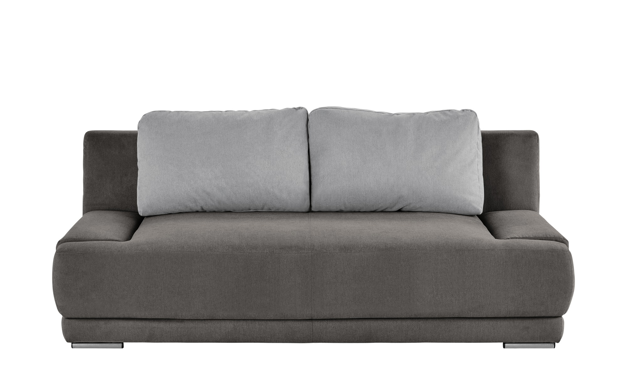 smart Schlafsofa braun/hellgrau - Flachgewebe Regina ¦ grau ¦ Maße (cm): B: 206 H: 83 T: 98 Polstermöbel > Sofas > 2-Sitzer - Höffner