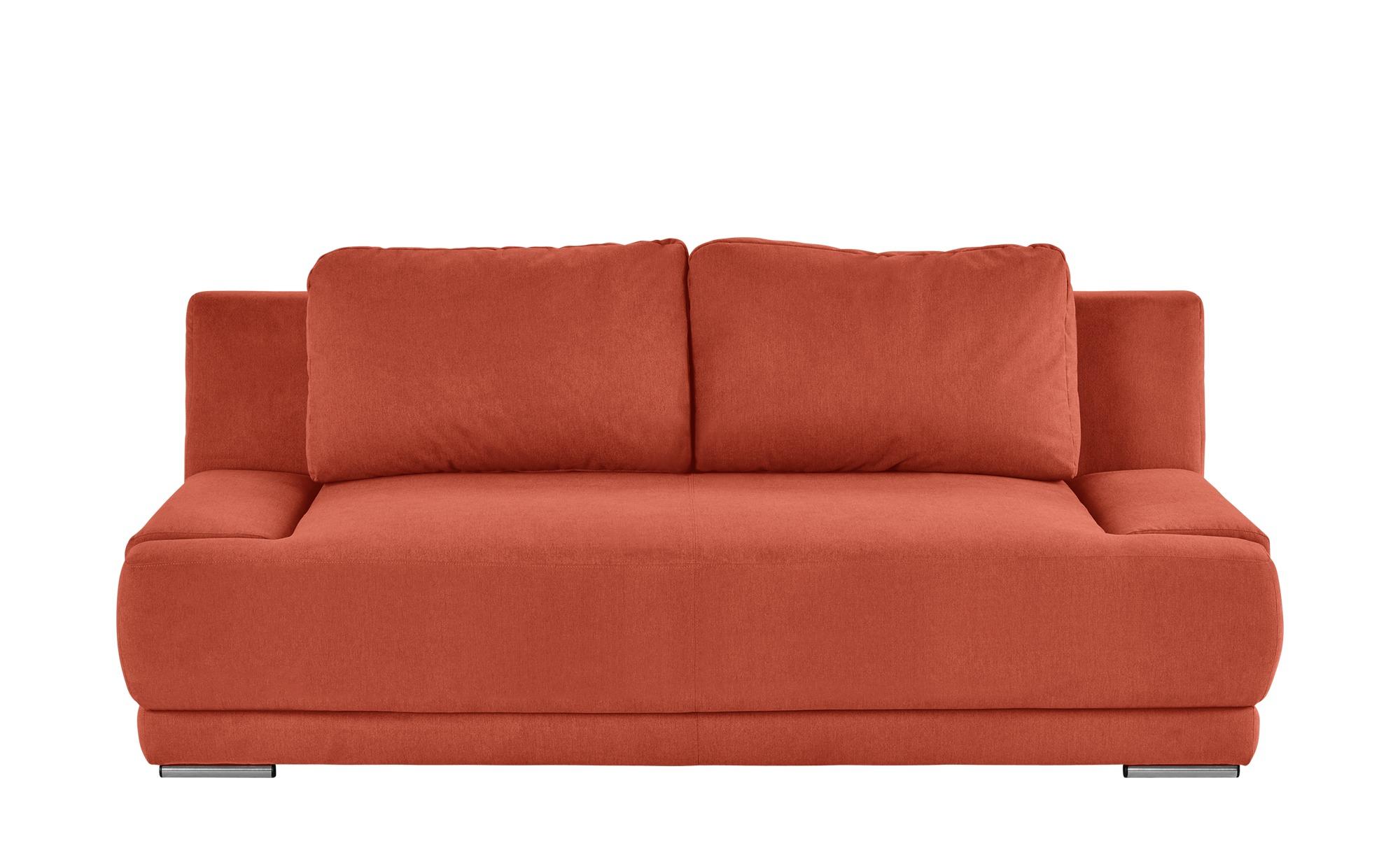 smart Schlafsofa orange - Flachgewebe Regina ¦ orange ¦ Maße (cm): B: 206 H: 83 T: 98 Polstermöbel > Sofas > 2-Sitzer - Höffner