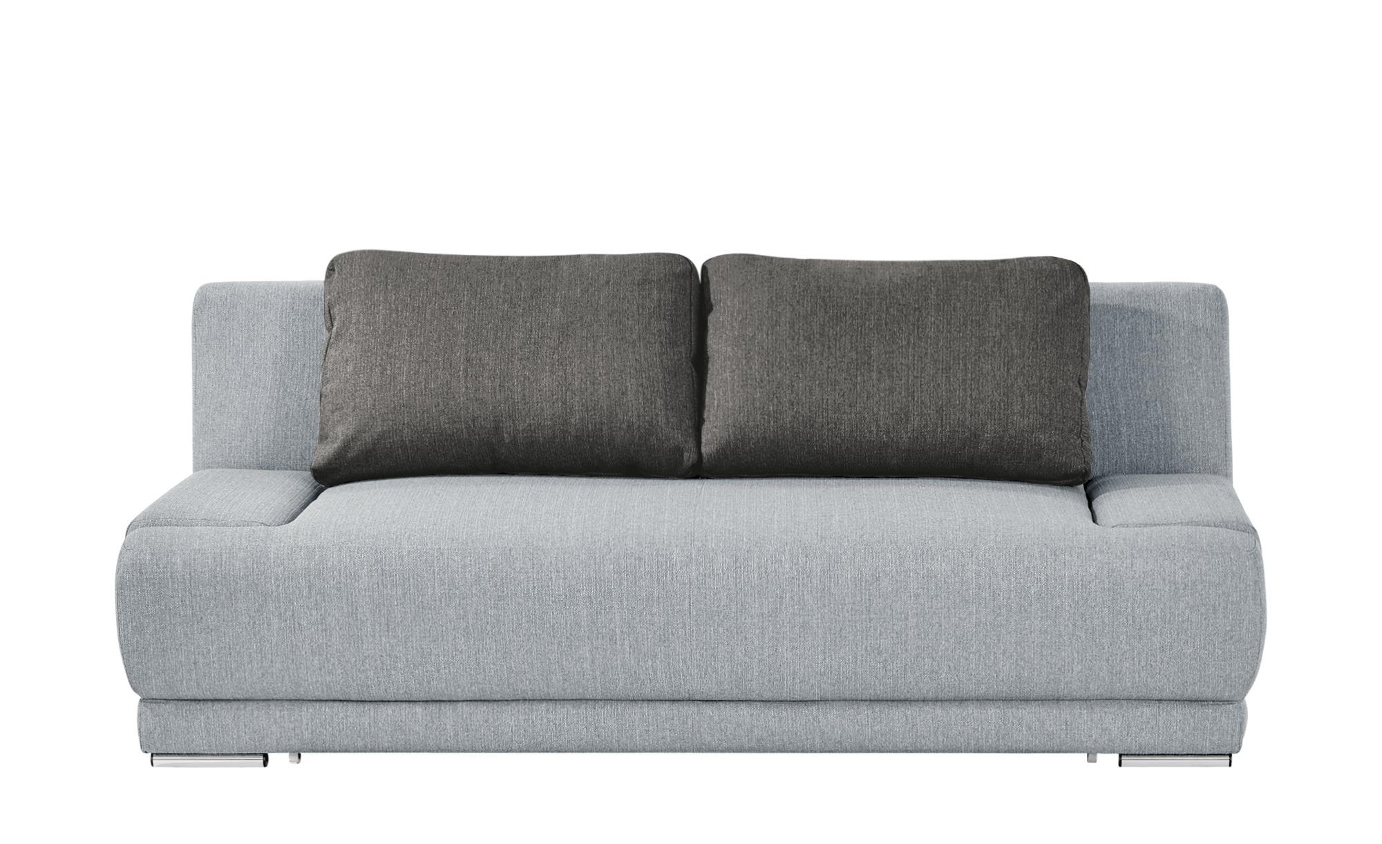 smart Schlafsofa grau/dunkelgrau - Flachgewebe Regina ¦ grau ¦ Maße (cm): B: 206 H: 83 T: 98 Polstermöbel > Sofas > 2-Sitzer - Höffner