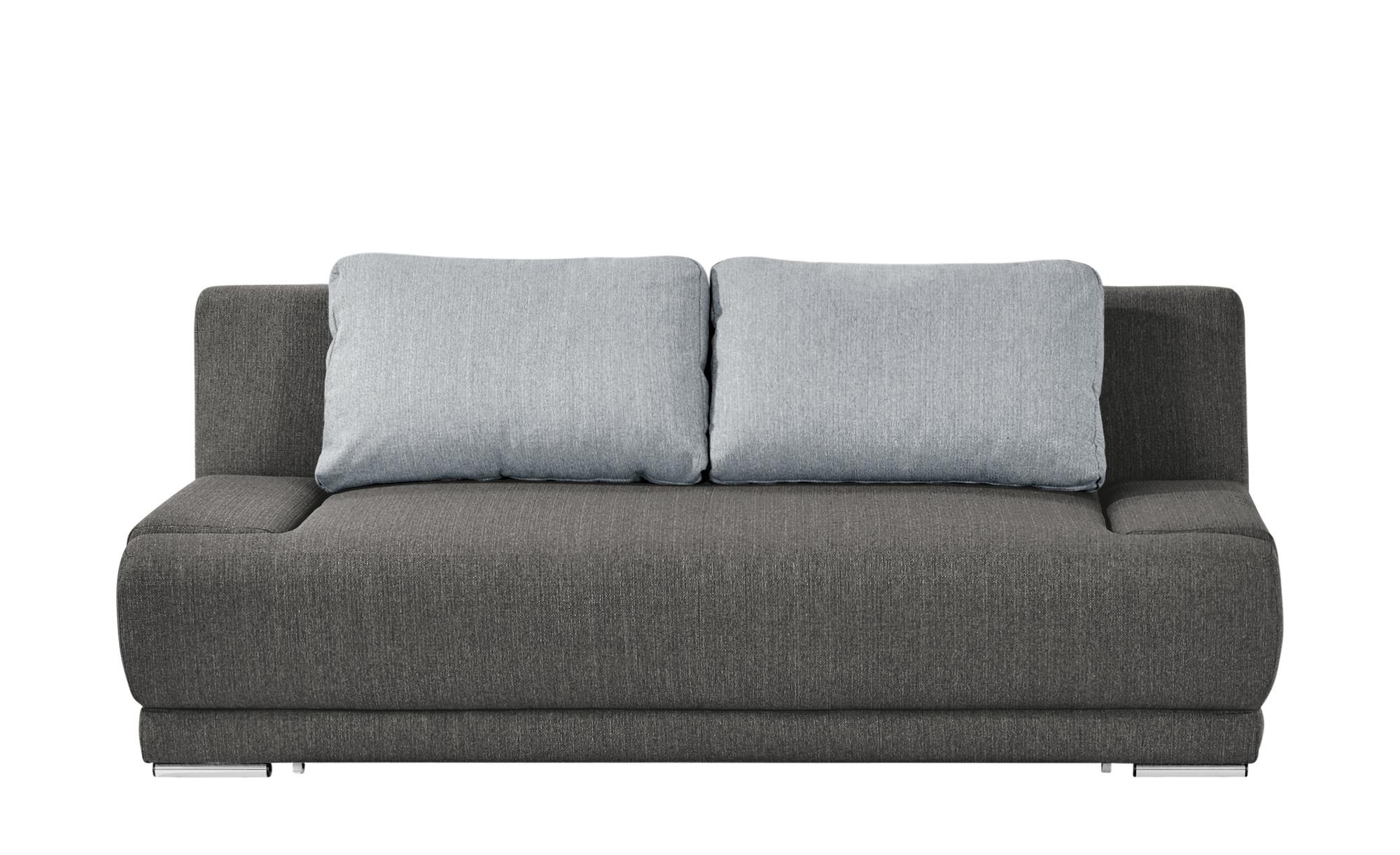 smart Schlafsofa dunkelgrau/grau - Webstoff Regina ¦ grau ¦ Maße (cm): B: 206 H: 83 T: 98 Polstermöbel > Sofas > 2-Sitzer - Höffner