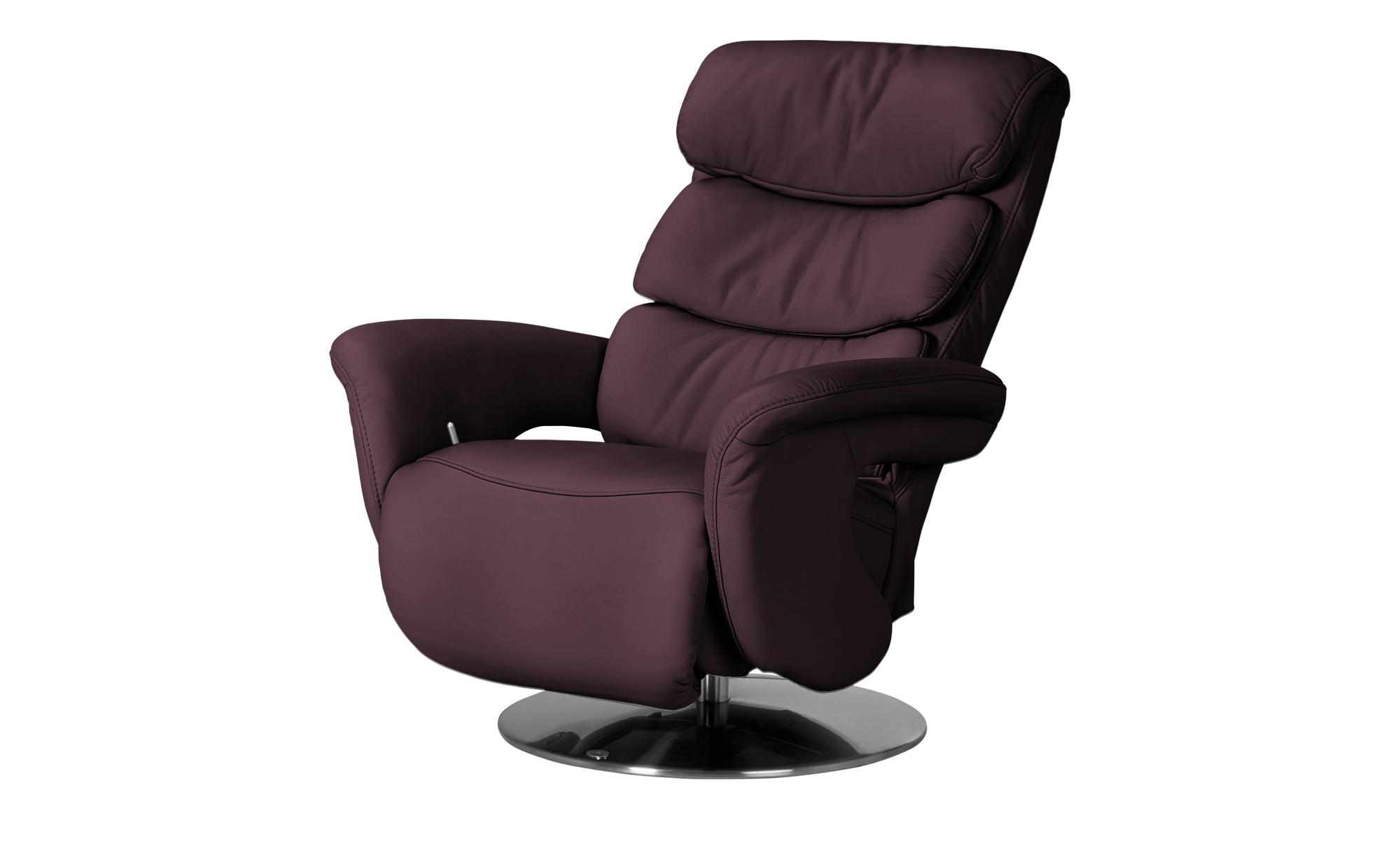 himolla Leder-Relaxsessel rot - Leder 7228 ¦ rot ¦ Maße (cm): B: 83 H: 109 T: 90 Polstermöbel > Sessel > Fernsehsessel - Höffner
