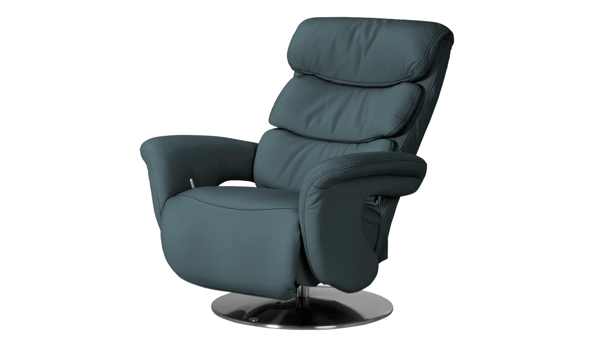 himolla Leder-Relaxsessel petrol 7228 ¦ türkis/petrol ¦ Maße (cm): B: 83 H: 109 T: 90 Polstermöbel > Sessel > Fernsehsessel - Höffner