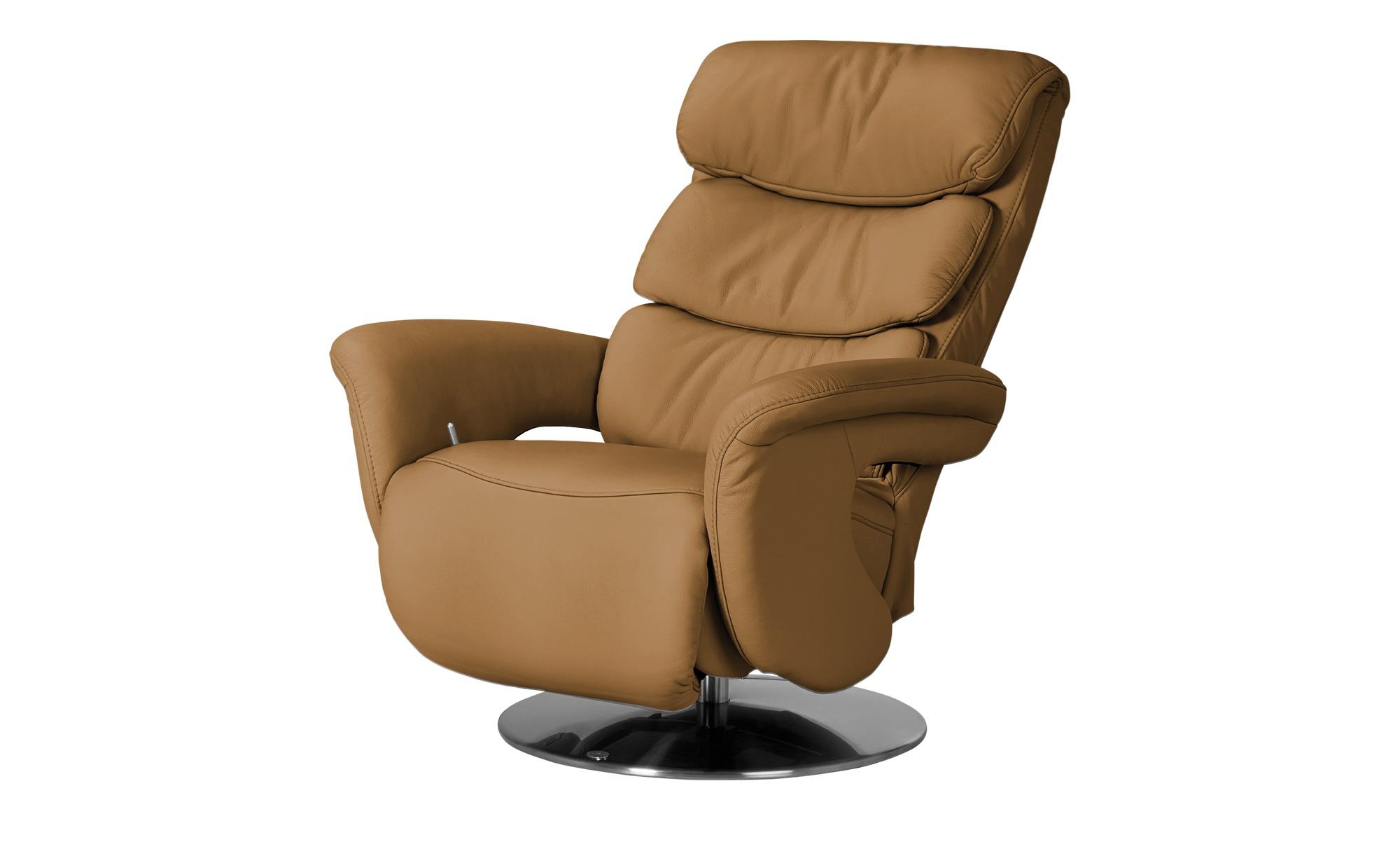 Leder-Relaxsessel gelb - Leder Viktoria ¦ gelb ¦ Maße (cm): B: 83 H: 109 T: 90 Polstermöbel > Sessel > Fernsehsessel - Höffner