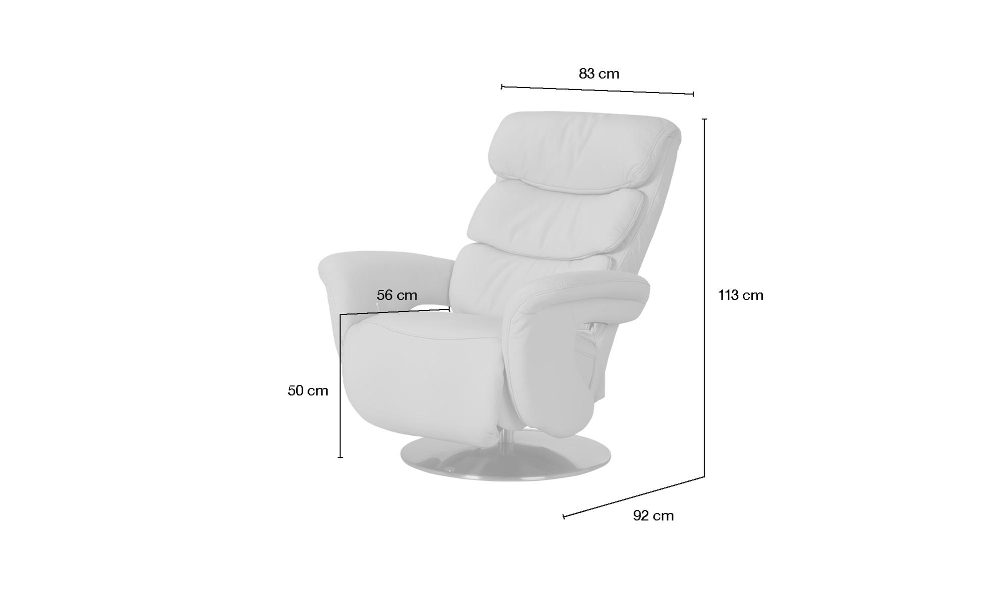 himolla Leder-Relaxsessel schwarz - Leder 7228 ¦ schwarz ¦ Maße (cm): B: 83 H: 113 T: 92 Polstermöbel > Sessel > Fernsehsessel - Höffner