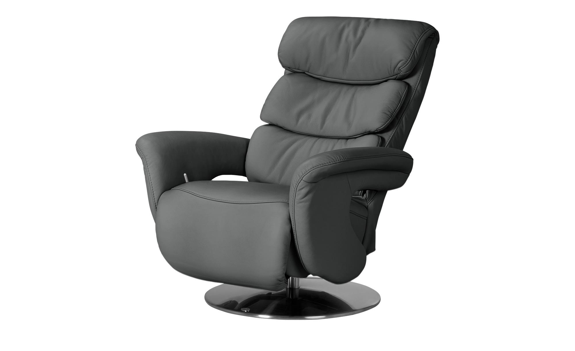himolla Leder-Relaxsessel grau - Leder 7228 ¦ grau ¦ Maße (cm): B: 83 H: 113 T: 92 Polstermöbel > Sessel > Fernsehsessel - Höffner