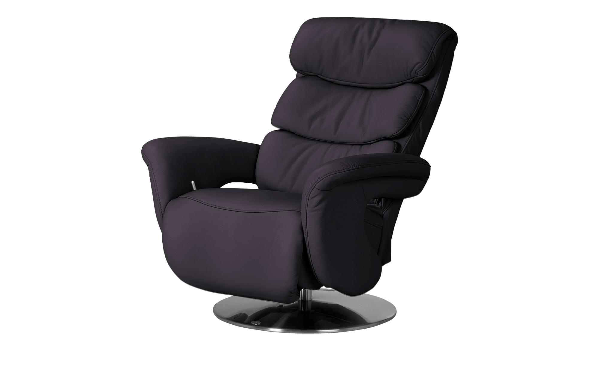 Leder-Relaxsessel lila - Leder Viktoria ¦ lila/violett ¦ Maße (cm): B: 83 H: 113 T: 92 Polstermöbel > Sessel > Fernsehsessel - Höffner