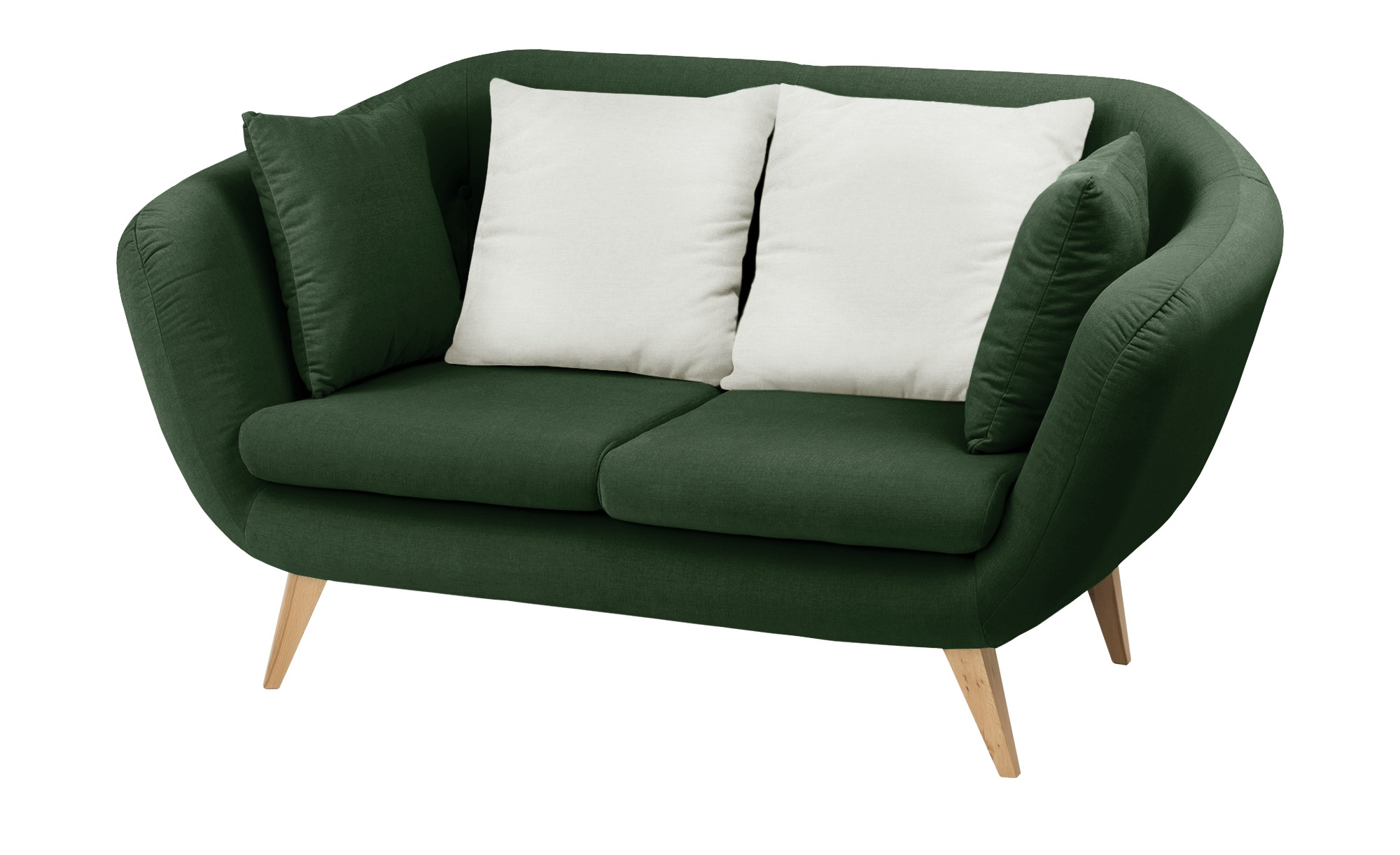 smart Sofa  grün - Mikrofaser Ricarda ¦ grün ¦ Maße (cm): B: 176 H: 93 T: 90 Polstermöbel > Sofas > 2-Sitzer - Höffner
