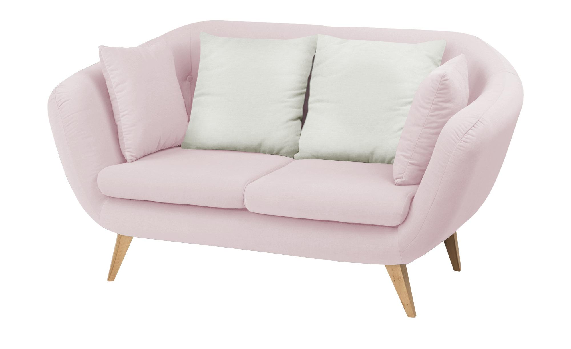 smart Sofa  altrosa - Mikrofaser Ricarda ¦ rosa/pink ¦ Maße (cm): B: 176 H: 93 T: 90 Polstermöbel > Sofas > 2-Sitzer - Höffner