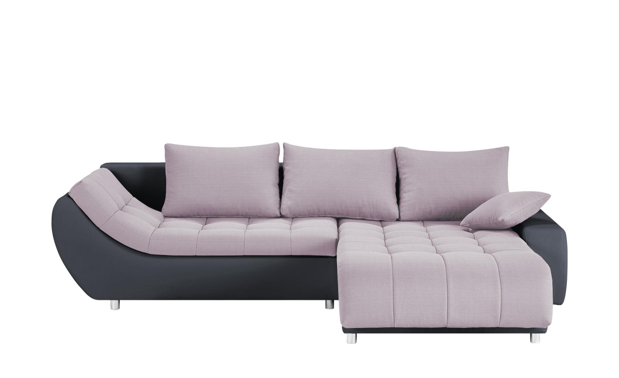 switch Ecksofa rosa/anthrazit - Kunstleder/Flachgewebe Cumulus ¦ rosa/pink ¦ Maße (cm): H: 73 Polstermöbel > Sofas > Ecksofas - Höffner
