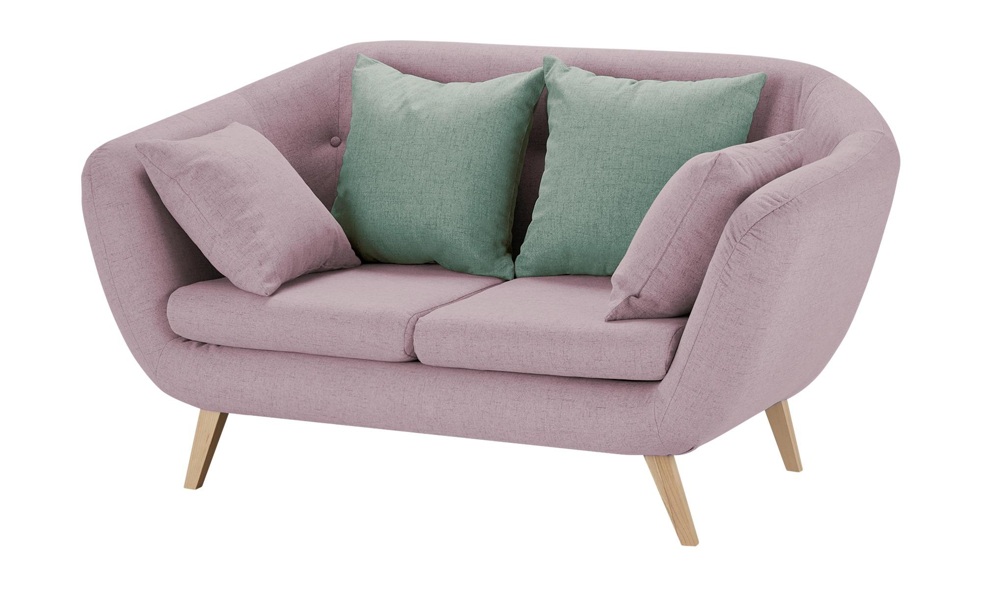 smart Sofa  altrosa - Flachgewebe Ricarda ¦ rosa/pink ¦ Maße (cm): B: 176 H: 93 T: 90 Polstermöbel > Sofas > 2-Sitzer - Höffner