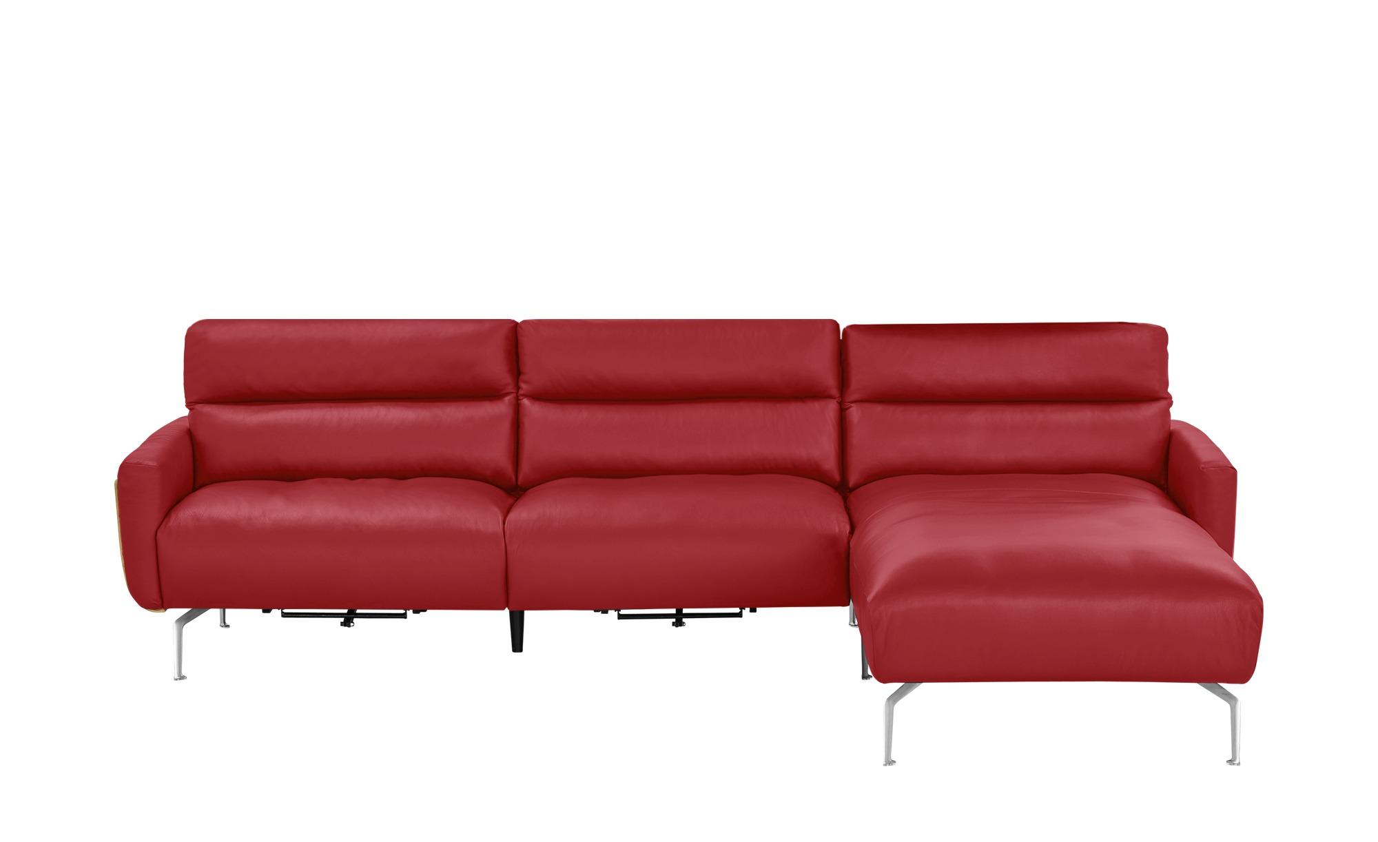 Ecksofa rot - Leder Mads ¦ rot ¦ Maße (cm): H: 90 Polstermöbel > Sofas > Ledersofas - Höffner