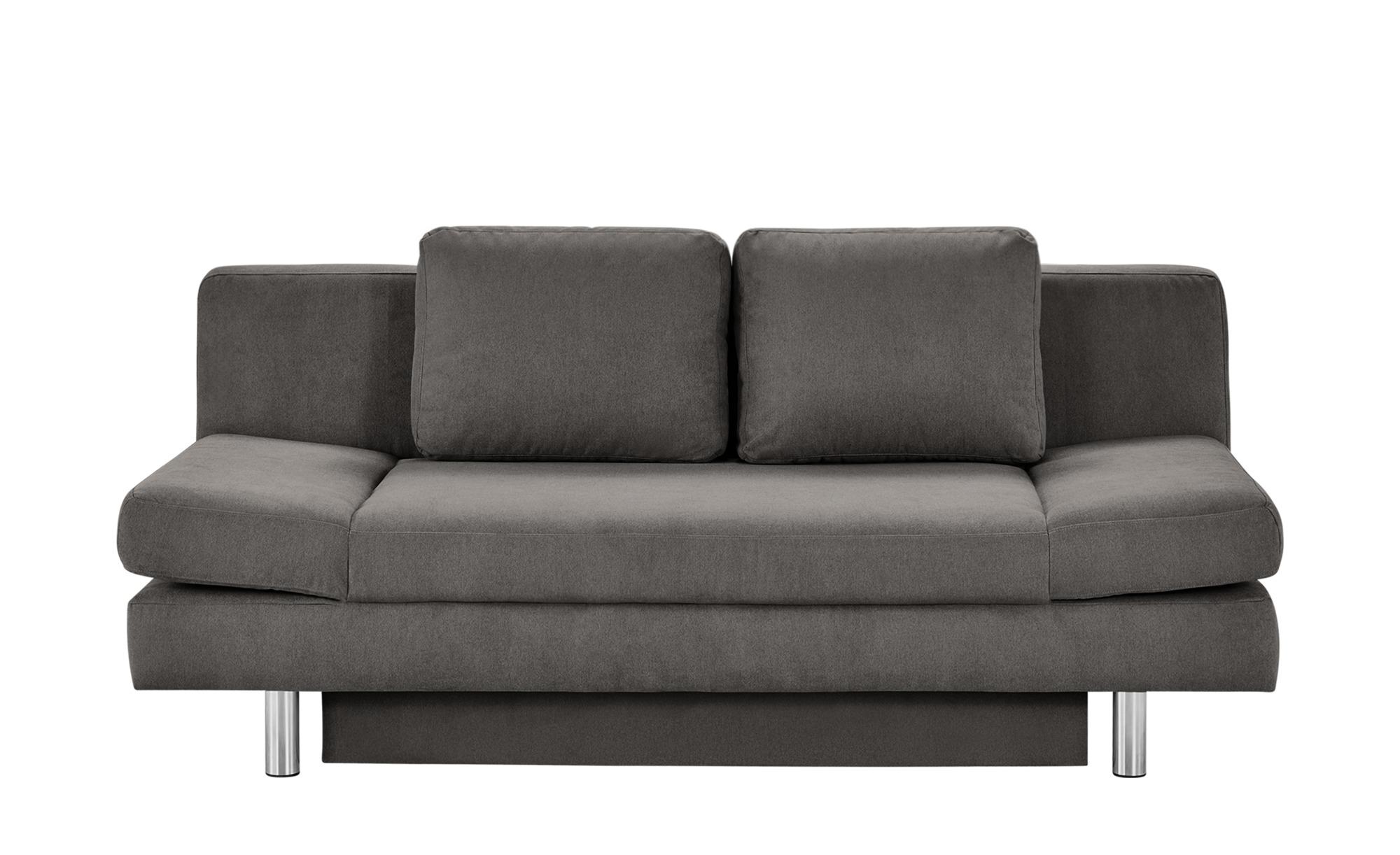 smart Schlafsofa grau - Webstoff Nina ¦ Maße (cm): B: 205 H: 90 T: 95 Polstermöbel > Sofas > 2-Sitzer - Höffner