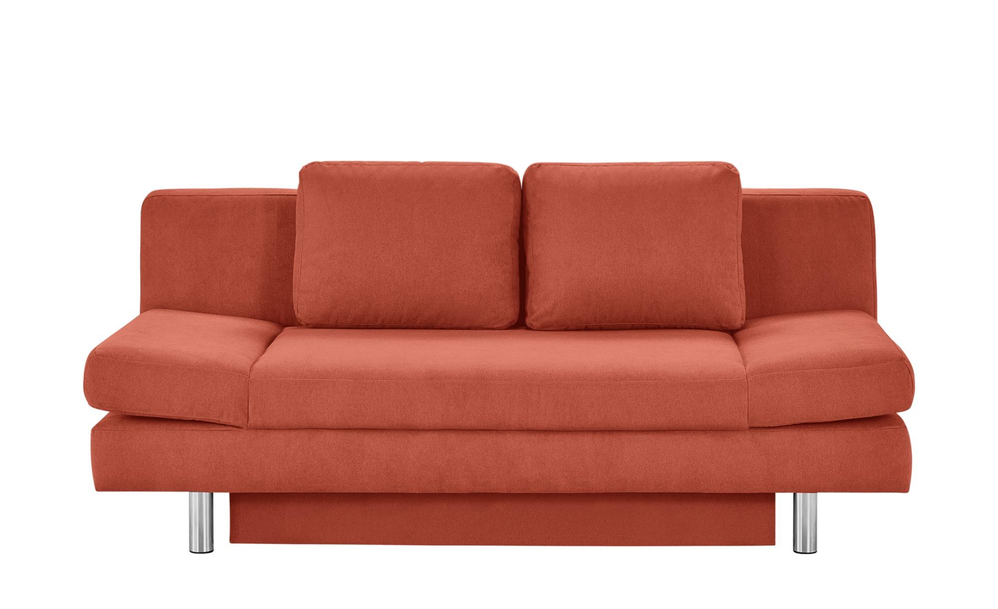 smart Schlafsofa orange - Webstoff Nina ¦ orange ¦ Maße (cm): B: 205 H: 90 T: 95 Polstermöbel > Sofas > 2-Sitzer - Höffner