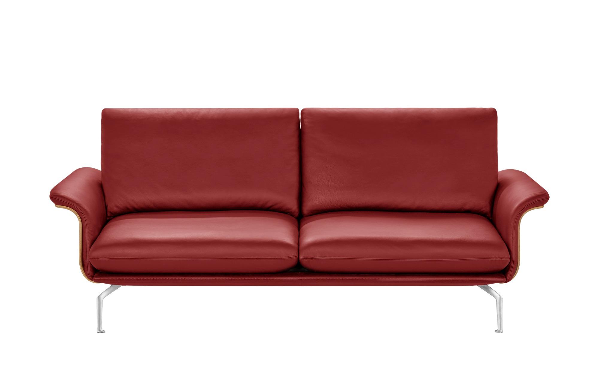 Nils Olsen Sofa rot - Kunstleder/Leder Lina ¦ rot ¦ Maße (cm): B: 217 H: 87 T: 101 Polstermöbel > Sofas > Einzelsofas - Höffner