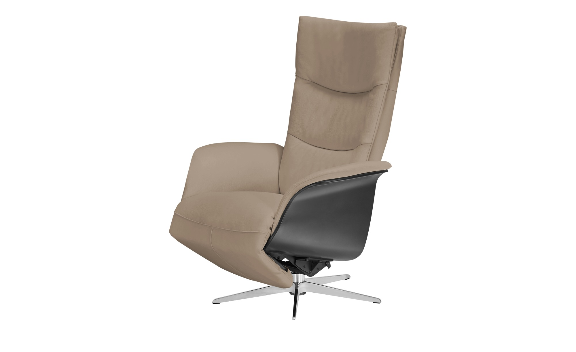 Relaxsessel beige - Leder Mika ¦ beige ¦ Maße (cm): B: 77 H: 109 T: 82 Polstermöbel > Sessel > Fernsehsessel - Höffner