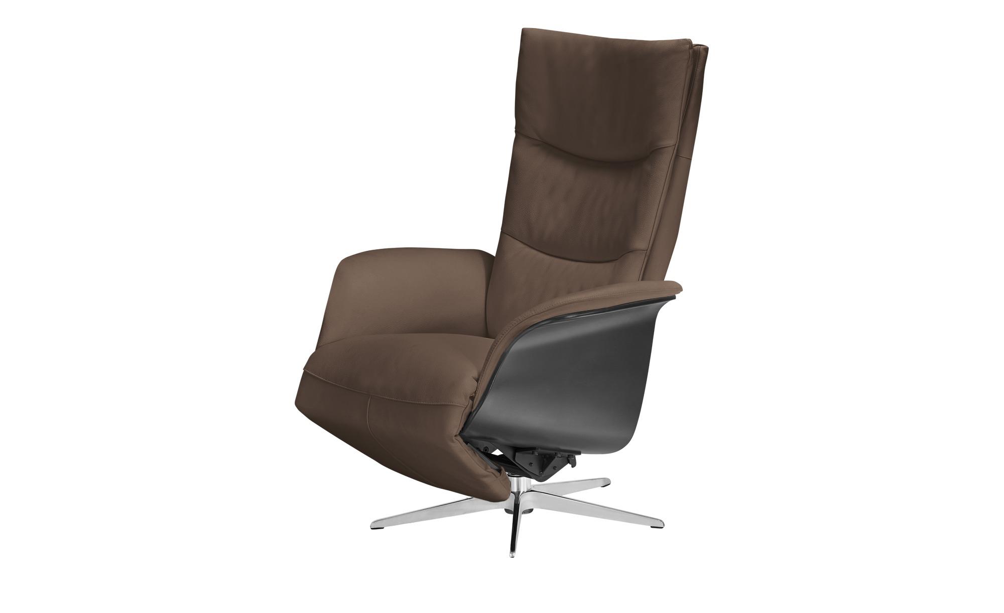 Relaxsessel braun - Leder Mika ¦ braun ¦ Maße (cm): B: 77 H: 109 T: 82 Polstermöbel > Sessel > Fernsehsessel - Höffner