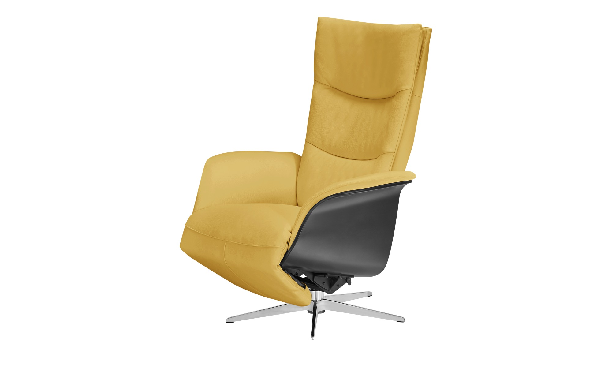Nils Olsen Relaxsessel gelb - Leder Mika ¦ gelb ¦ Maße (cm): B: 77 H: 109 T: 82 Polstermöbel > Sessel > Fernsehsessel - Höffner