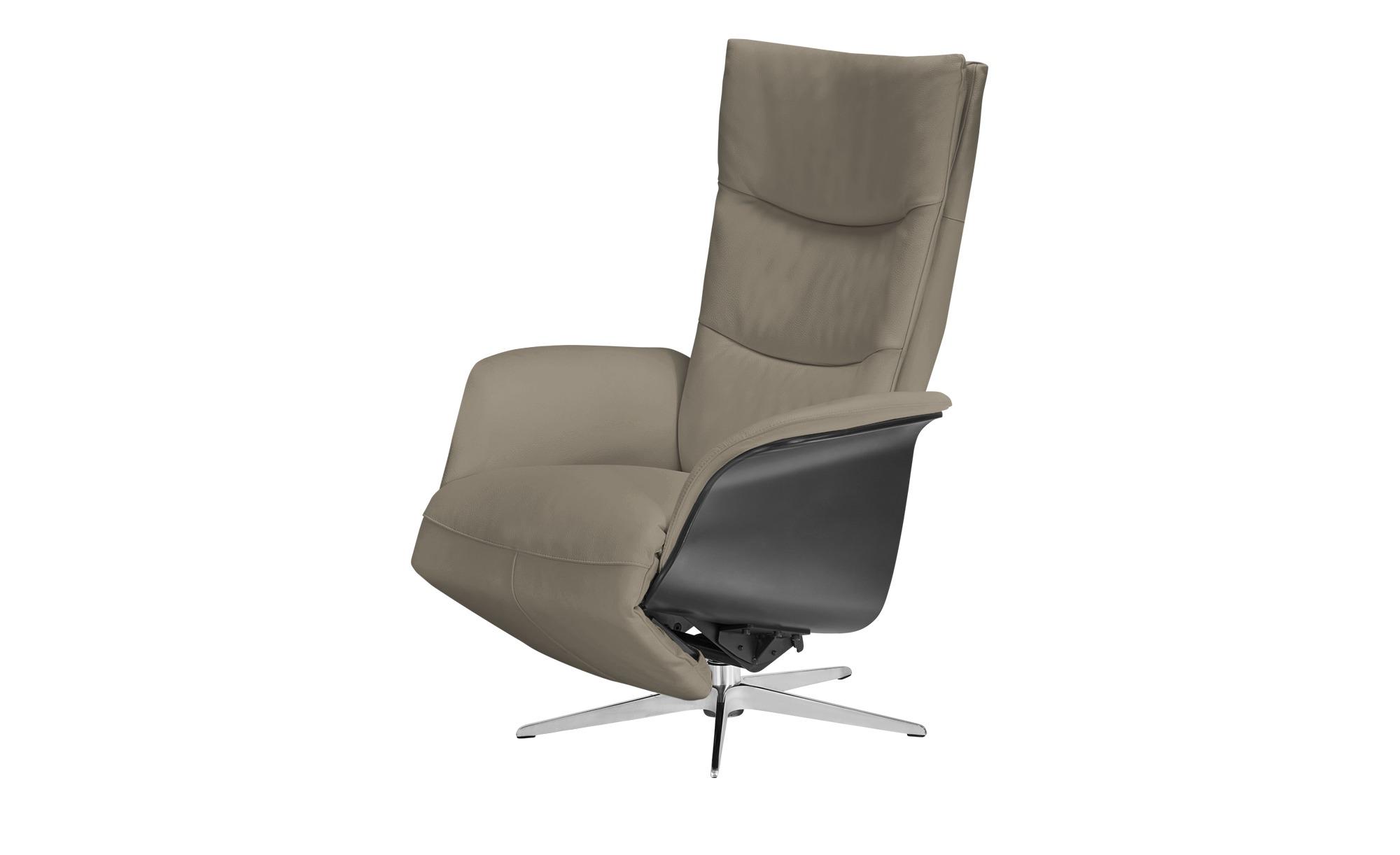 Nils Olsen Relaxsessel grau - Leder Mika ¦ grau ¦ Maße (cm): B: 77 H: 109 T: 82 Polstermöbel > Sessel > Fernsehsessel - Höffner