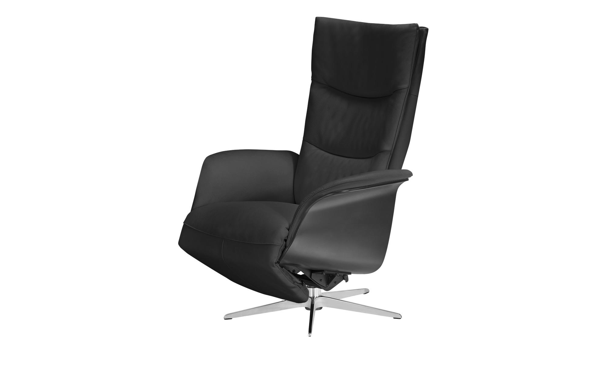Relaxsessel schwarz - Leder Mika ¦ schwarz ¦ Maße (cm): B: 77 H: 109 T: 82 Polstermöbel > Sessel > Fernsehsessel - Höffner