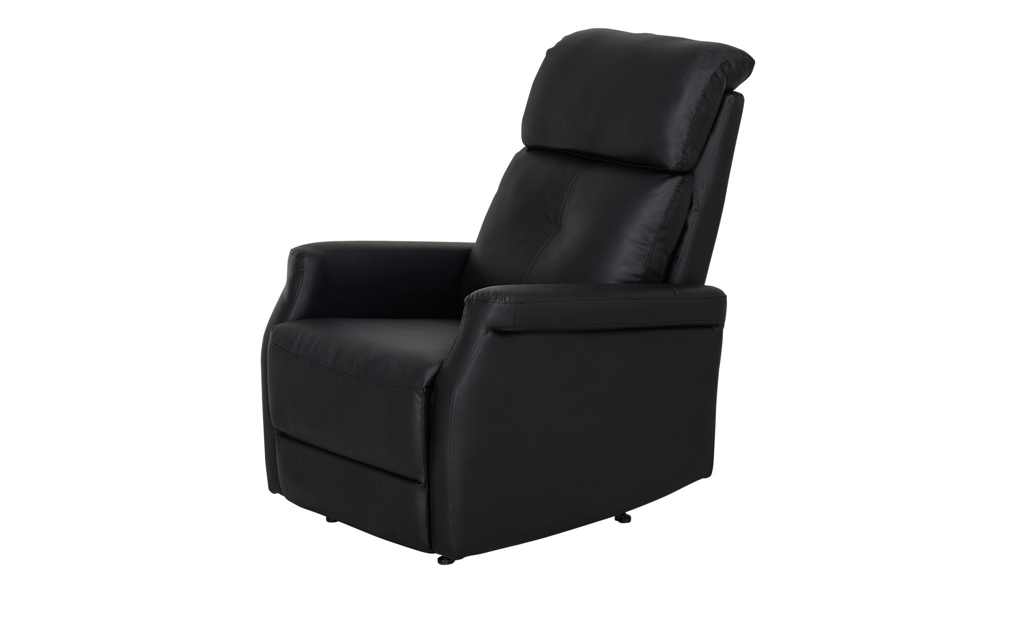 uno Fernsehsessel schwarz - Kunstleder Solea ¦ schwarz ¦ Maße (cm): B: 82 H: 104 T: 74 Polstermöbel > Sessel > Fernsehsessel - Höffner