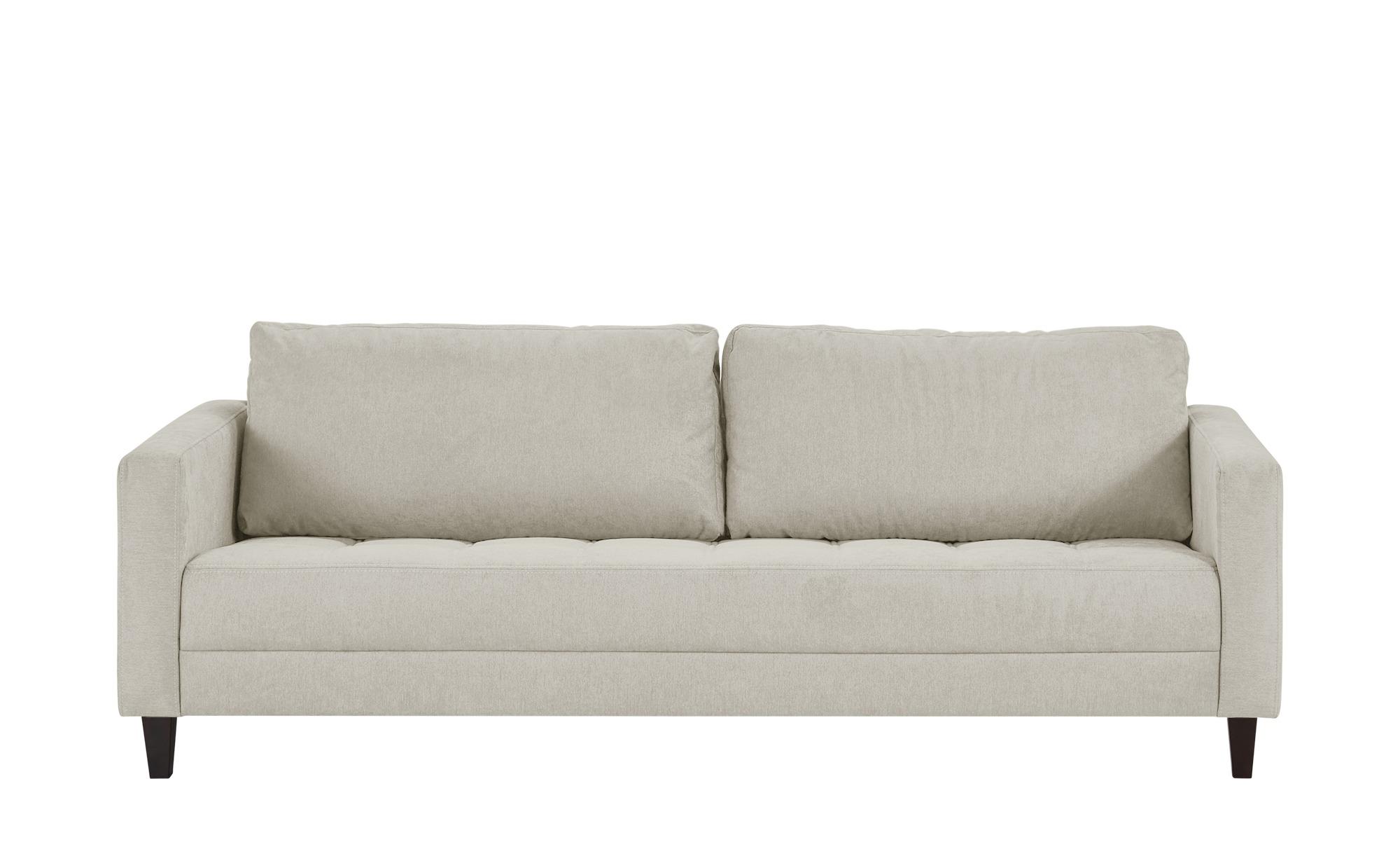 smart Sofa weiß - Flachgewebe Geradine ¦ weiß ¦ Maße (cm): B: 226 H: 93 T: 92 Polstermöbel > Sofas > 3-Sitzer - Höffner