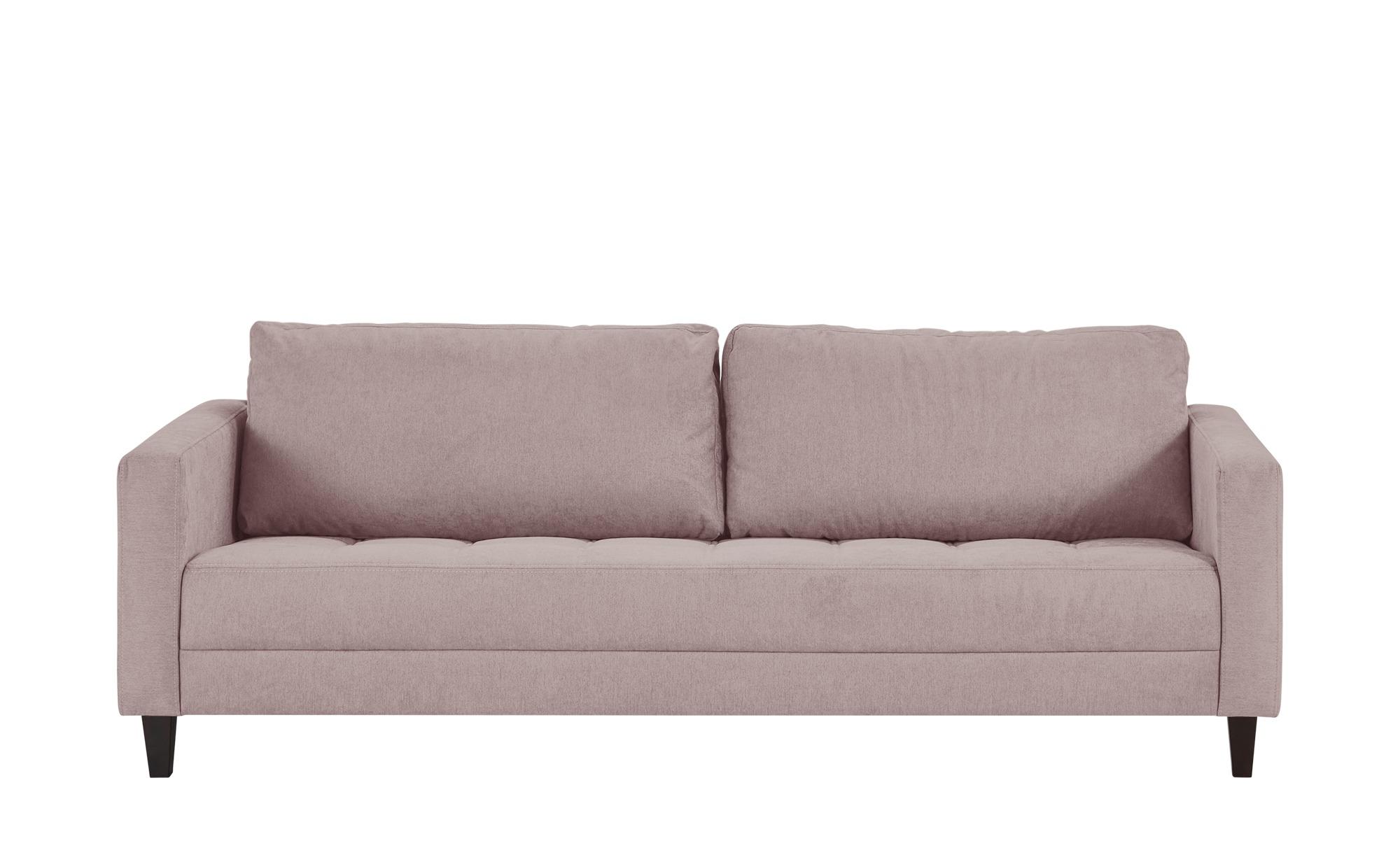 smart Sofa altrosa - Flachgewebe Geradine ¦ rosa/pink ¦ Maße (cm): B: 226 H: 93 T: 92 Polstermöbel > Sofas > 3-Sitzer - Höffner